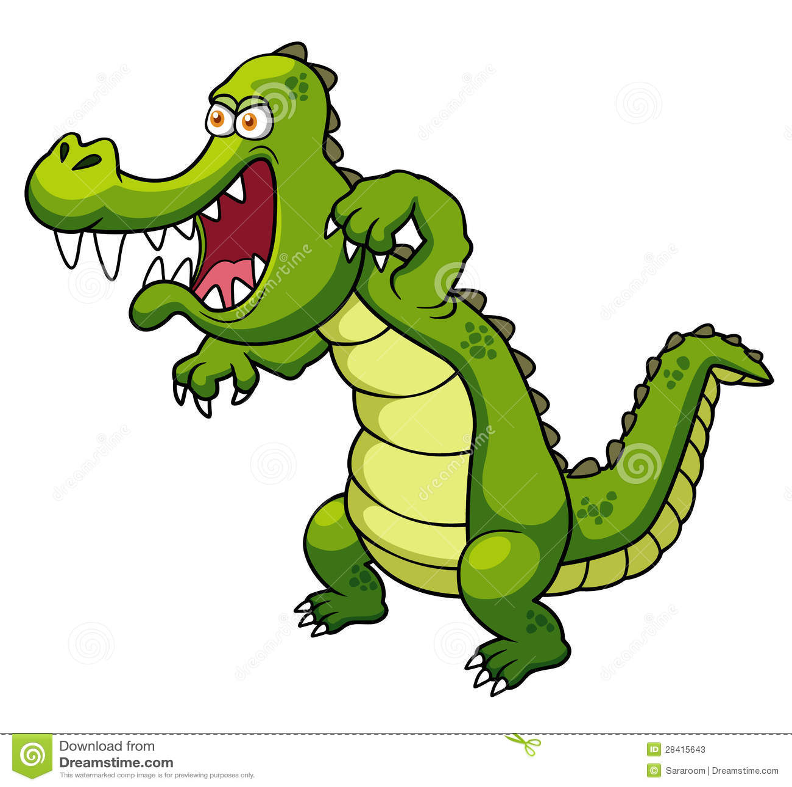 Cartoon crocodile stock vector. Illustration of crocodile ... - photo#39
