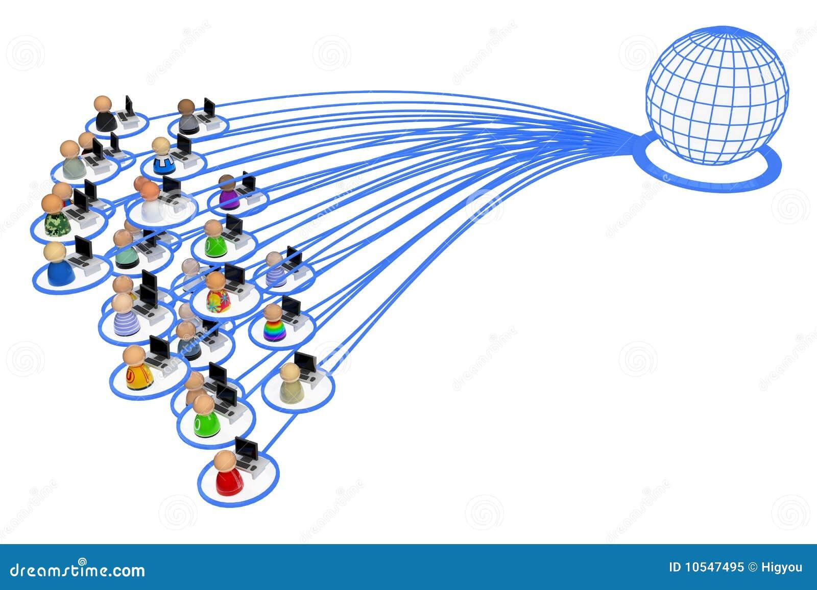 Cartoon Crowd, Internet User Group Royalty Free Stock Photo - Image ...