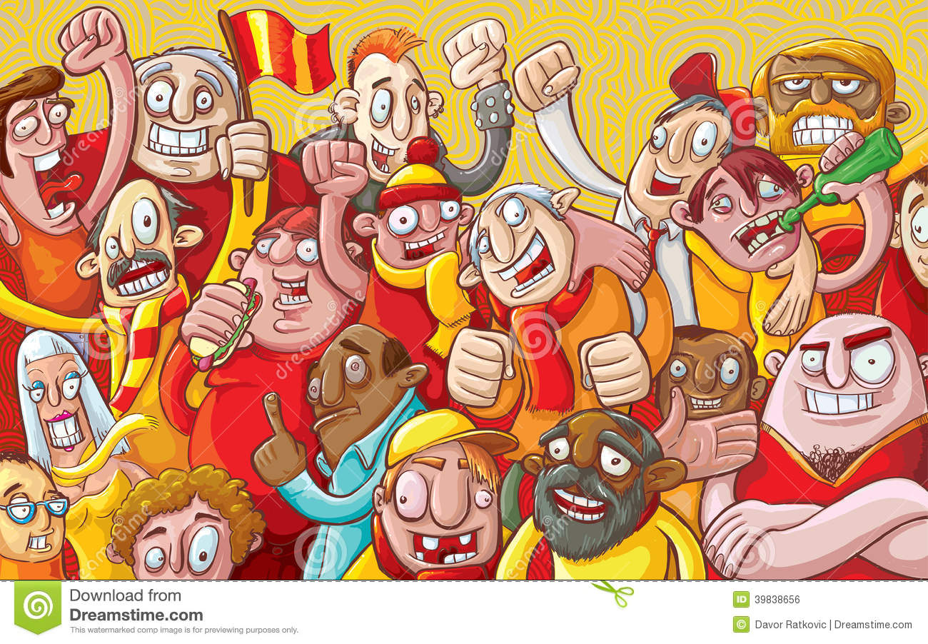 Cartoon Crowd Stock Photo - Image: 39838656