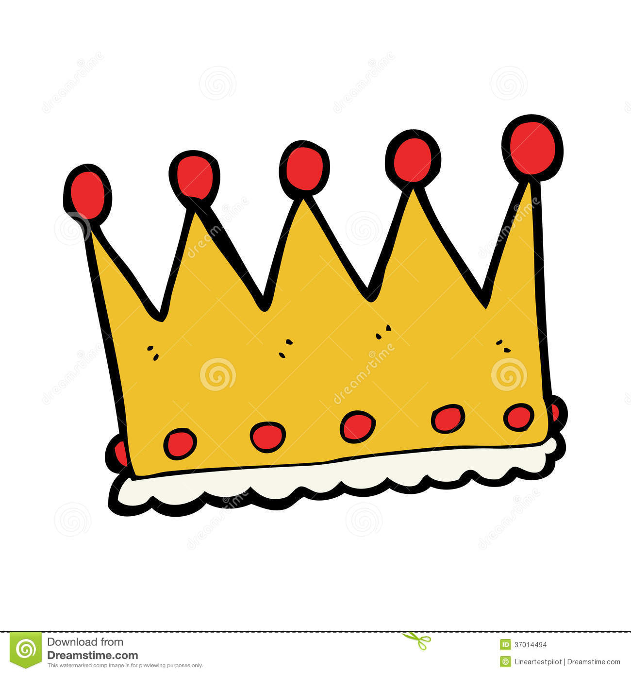 Cartoon Crown Stock Images - Image: 37014494