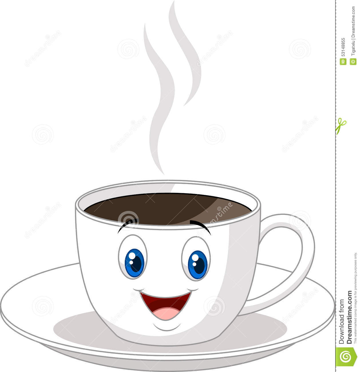 Cartoon Cup Of Coffee Stock Vector - Image: 53148855