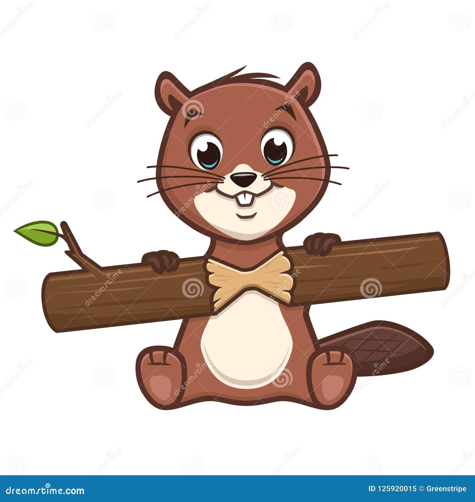 Cartoon Cute Beaver Stock Vector Illustration Of Drawing 125920015