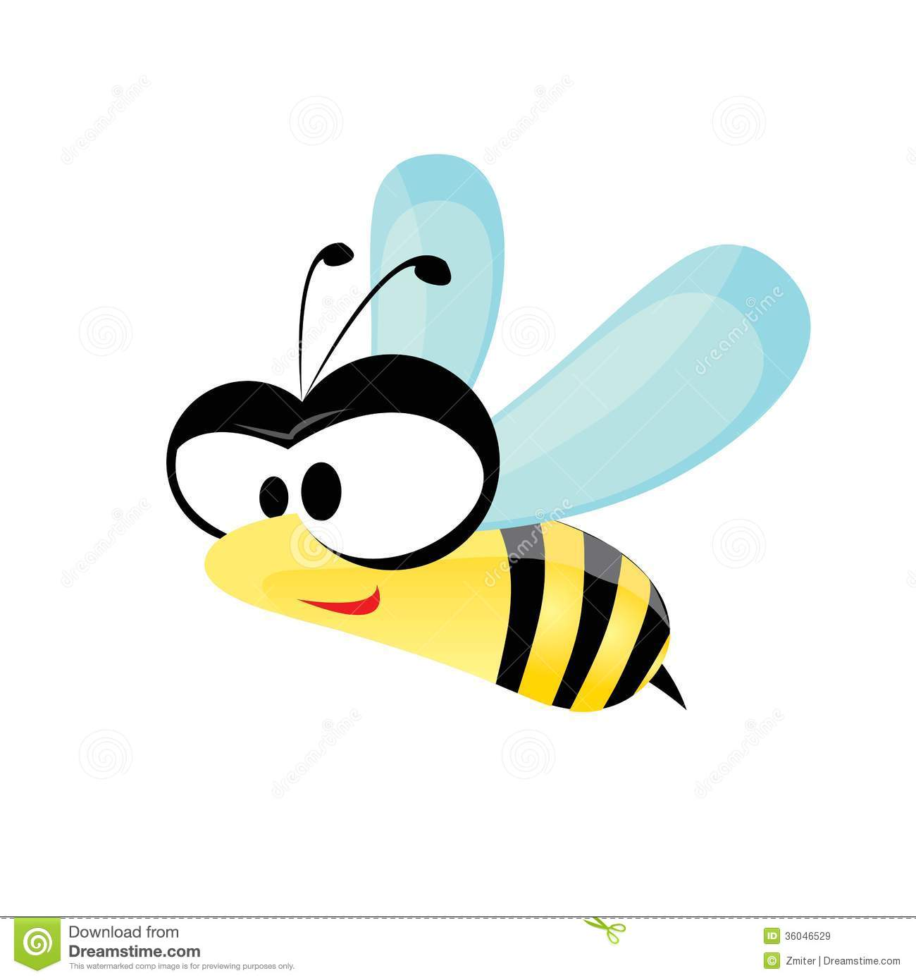 Cartoon Cute Bright Baby Bee Vector Illustration Royalty Free Stock Images Image 36046529