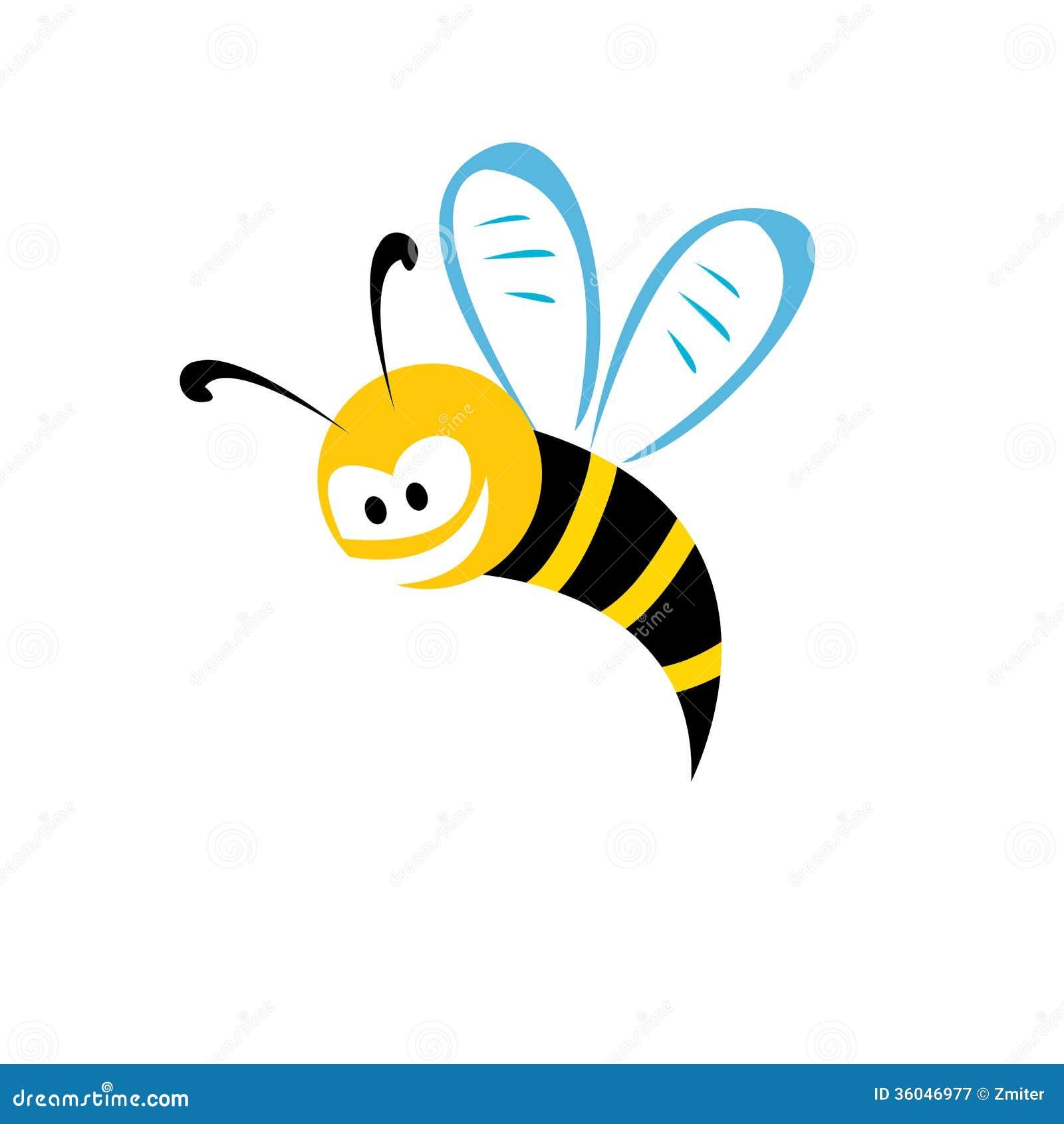 Cartoon Cute Bright Baby Bee Vector Illustration Royalty