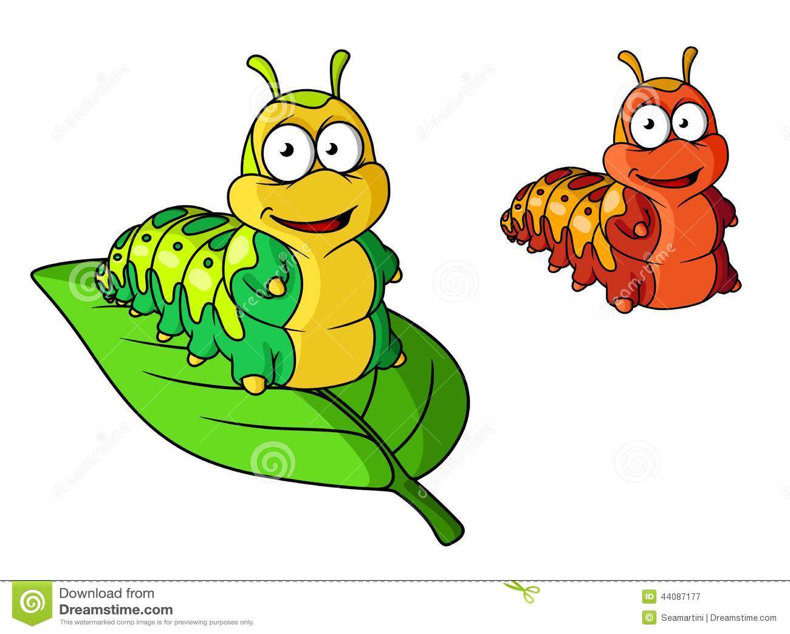 Cartoon Cute Caterpillar Character Stock Vector Image