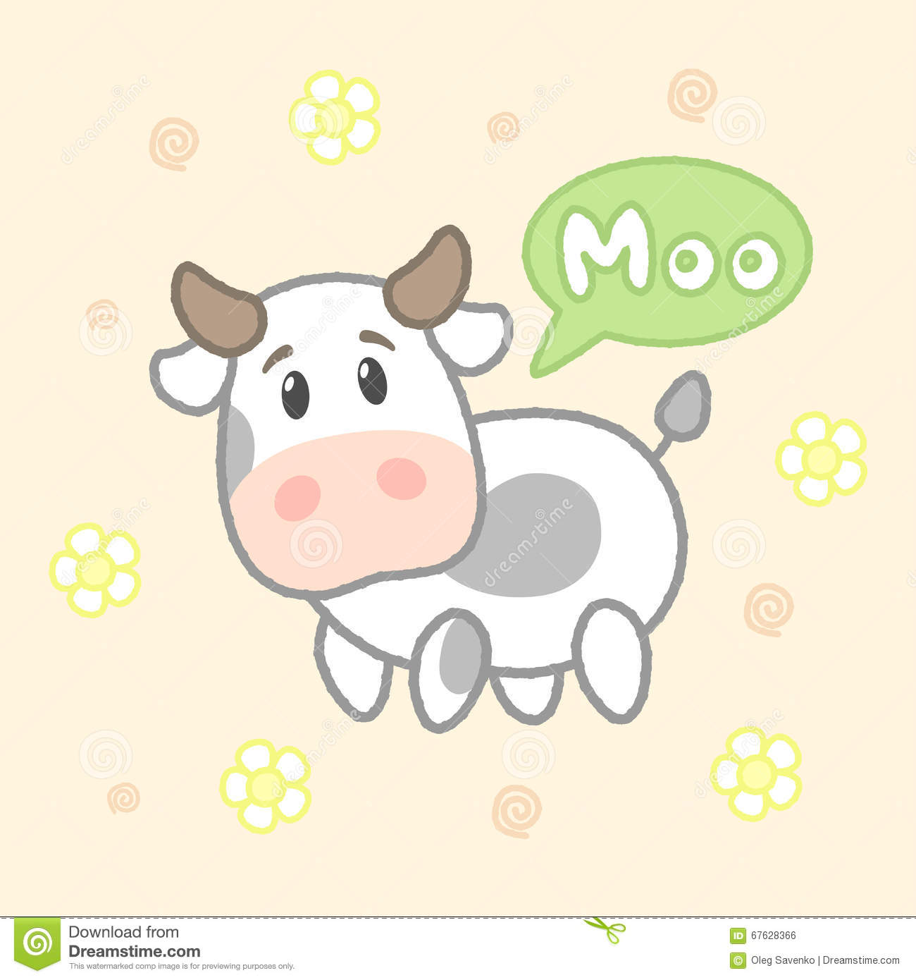 Cow drawings for kids