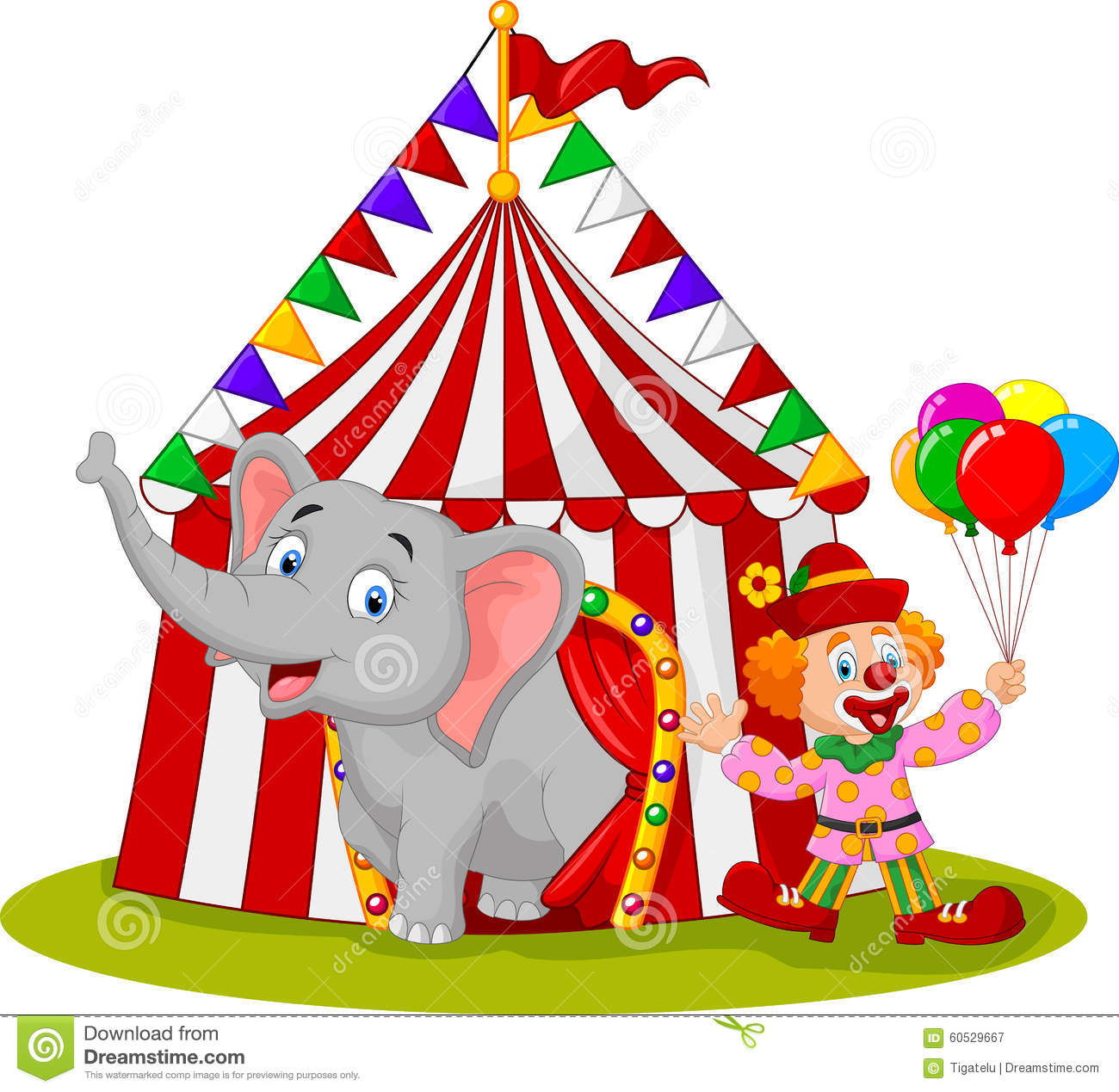 cartoon cute elephant and clown with circus tent stock tent clipart template tent clipart cute