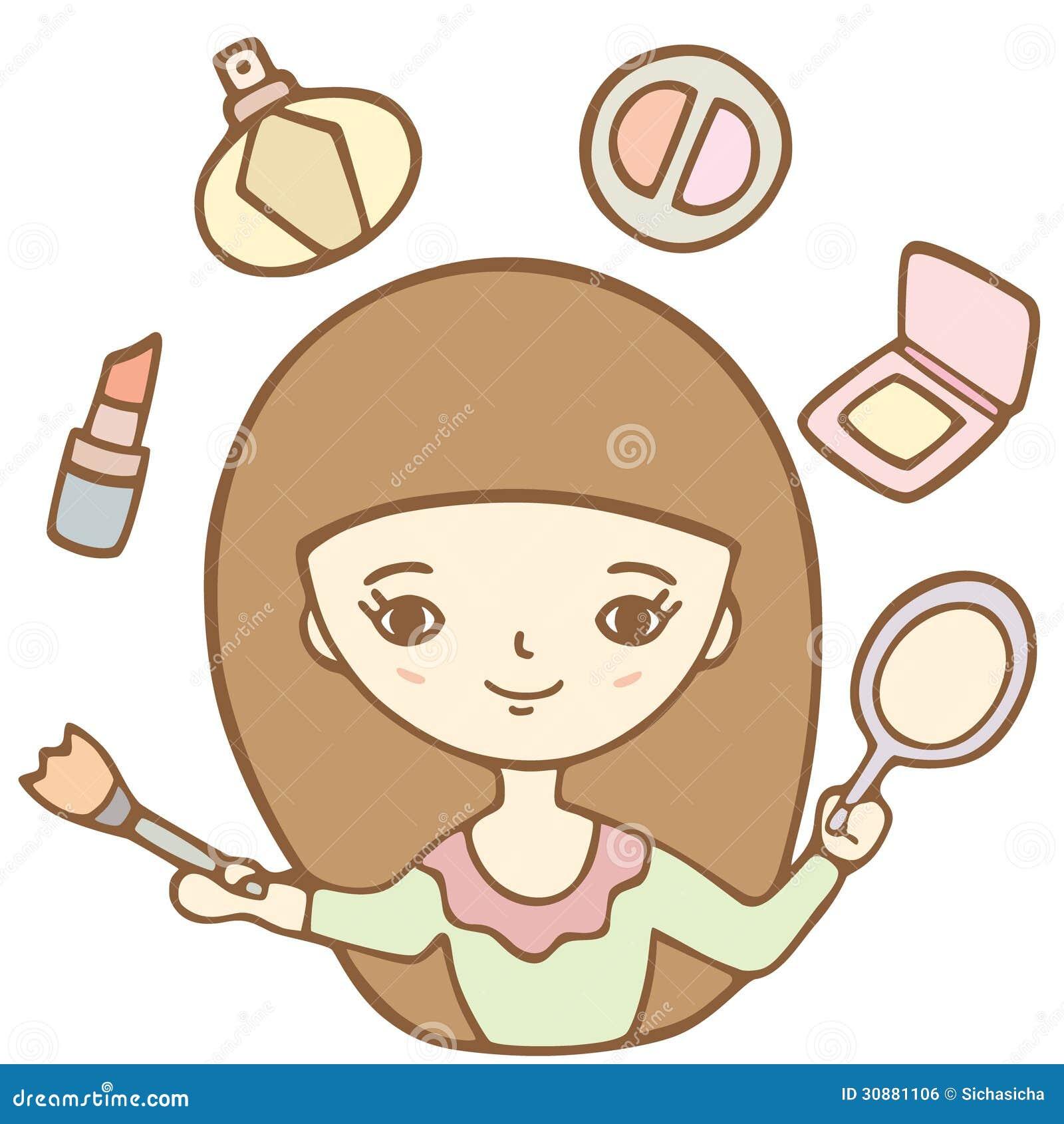 Cartoon Cute Girl Doin...