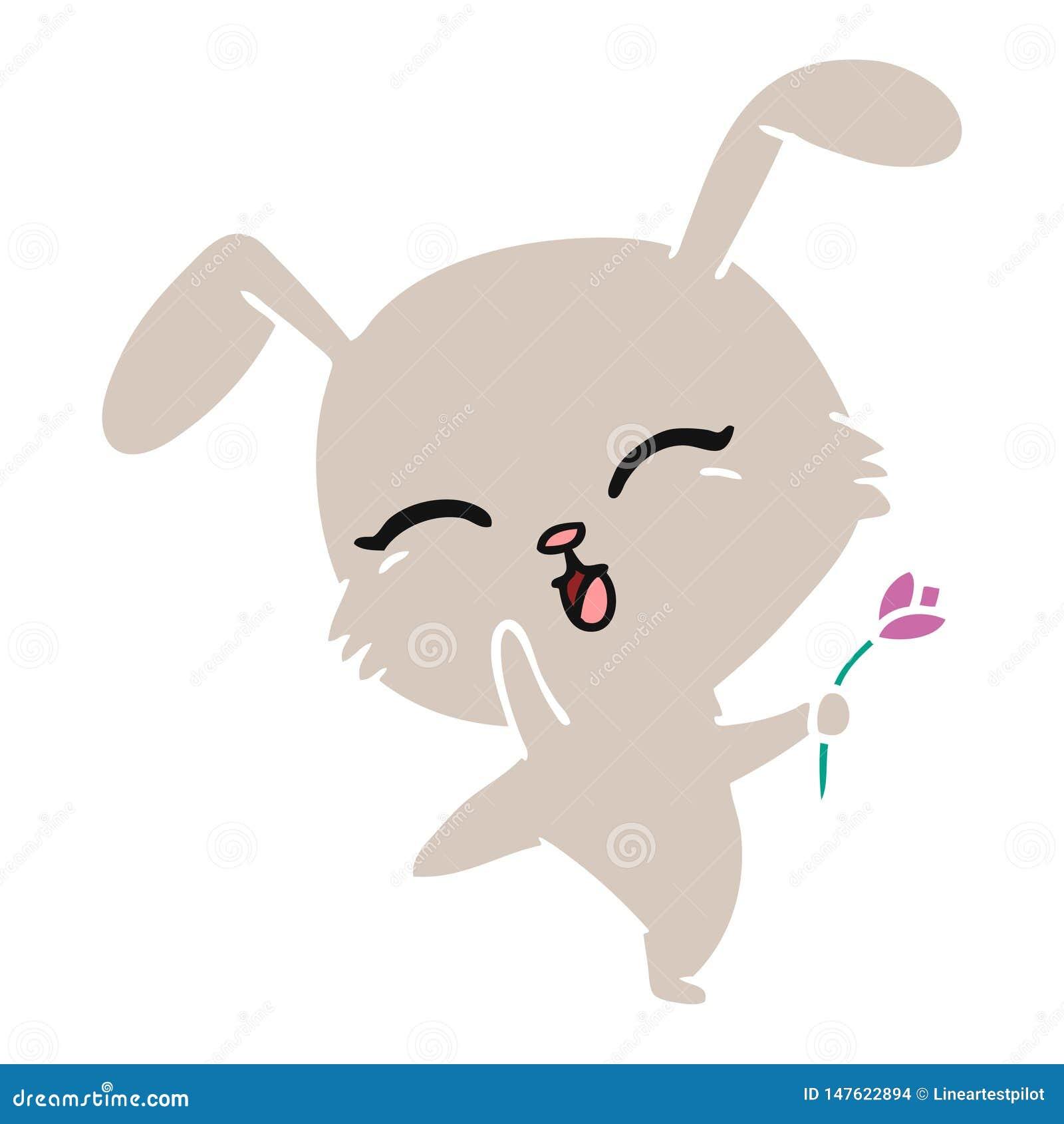 Cartoon Of Cute Kawaii Bunny Stock Vector Illustration Of Bunny