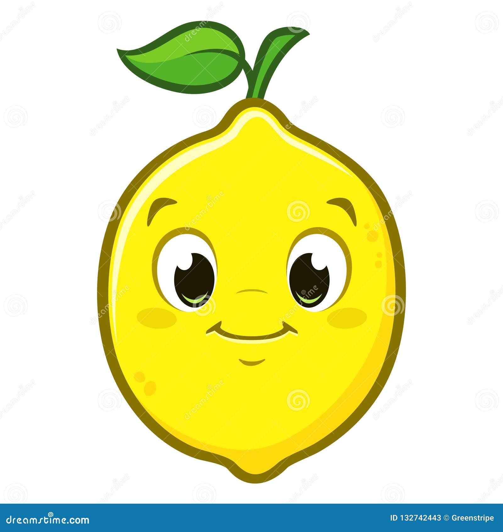 Cartoon Cute Lemon stock vector. Illustration of drawing ...
