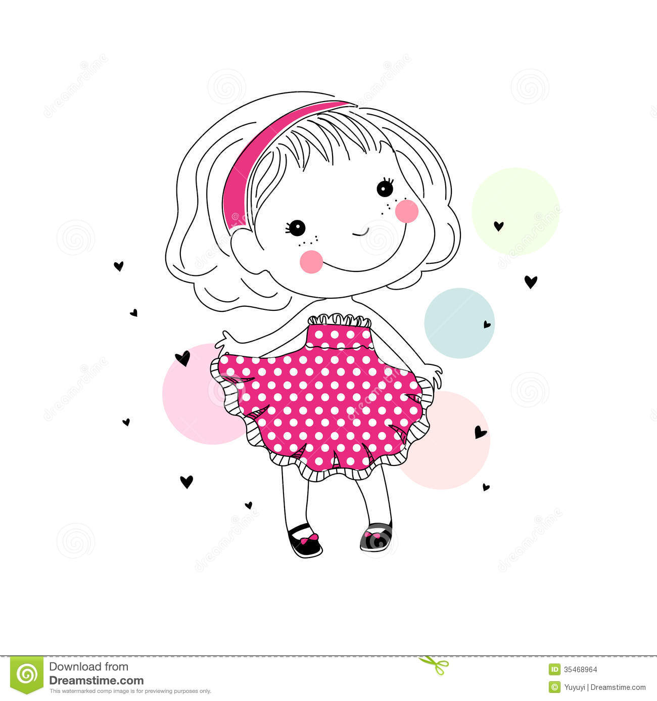 Cartoon Cute Little Girl Stock Images - Image: 35468964