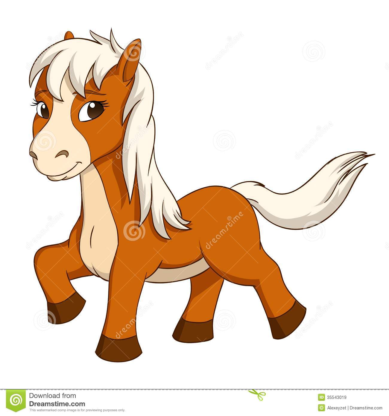 Cartoon Cute Little Horse Stock Vector Illustration Of Tail 35543019