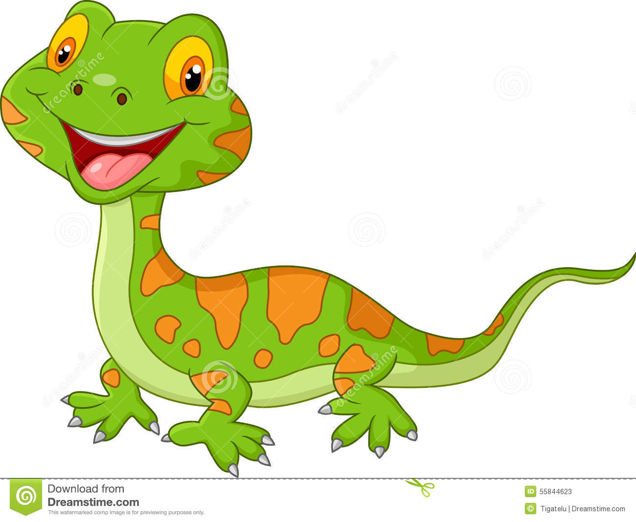 cartoon cute lizard stock vector image 55844623 Lizard Clip Art Lizard Clip Art