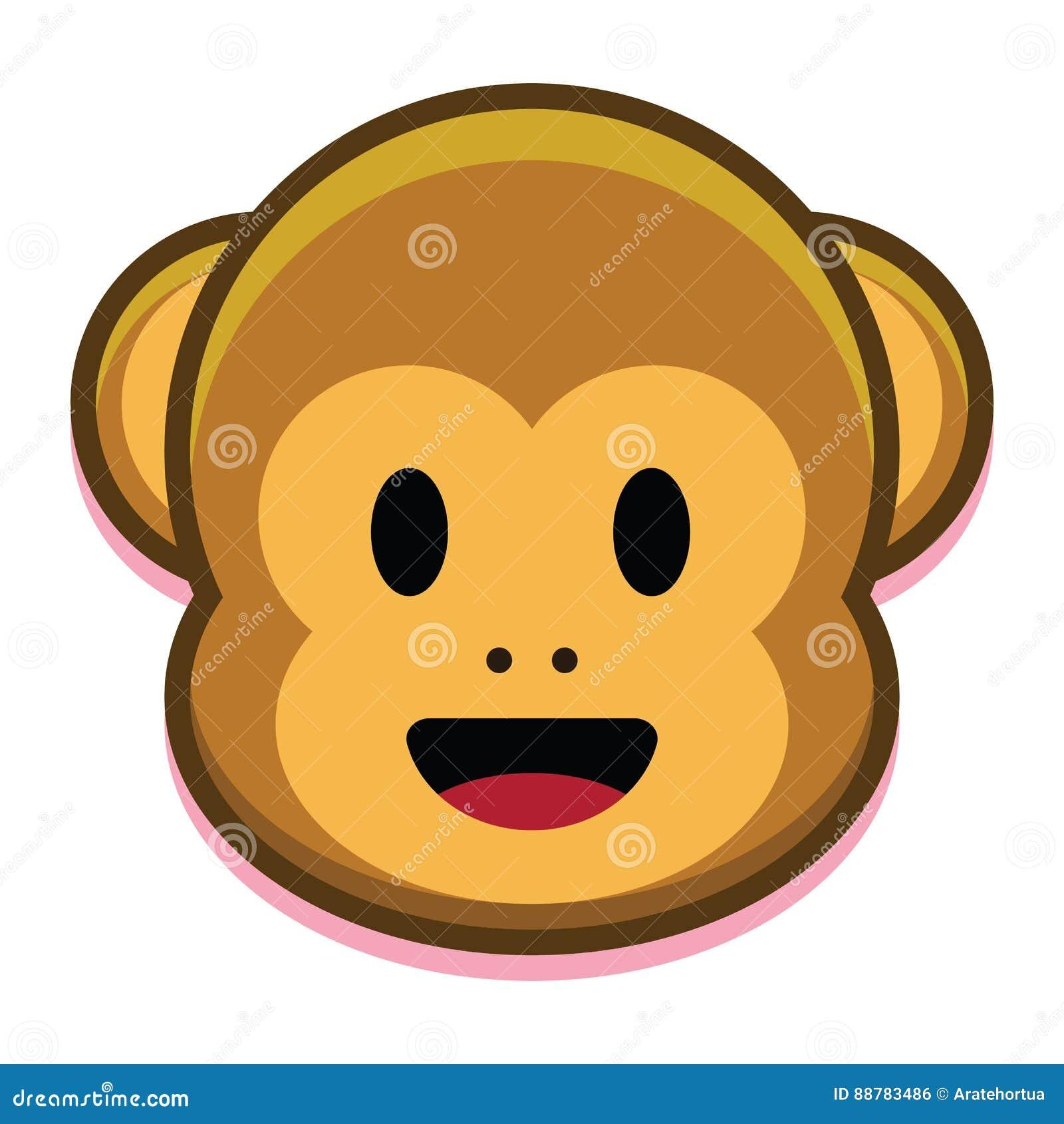 Cartoon Cute Monkey Face Isolated On White Background Stock Illustration Illustration Of Celebration Decoration 88783486