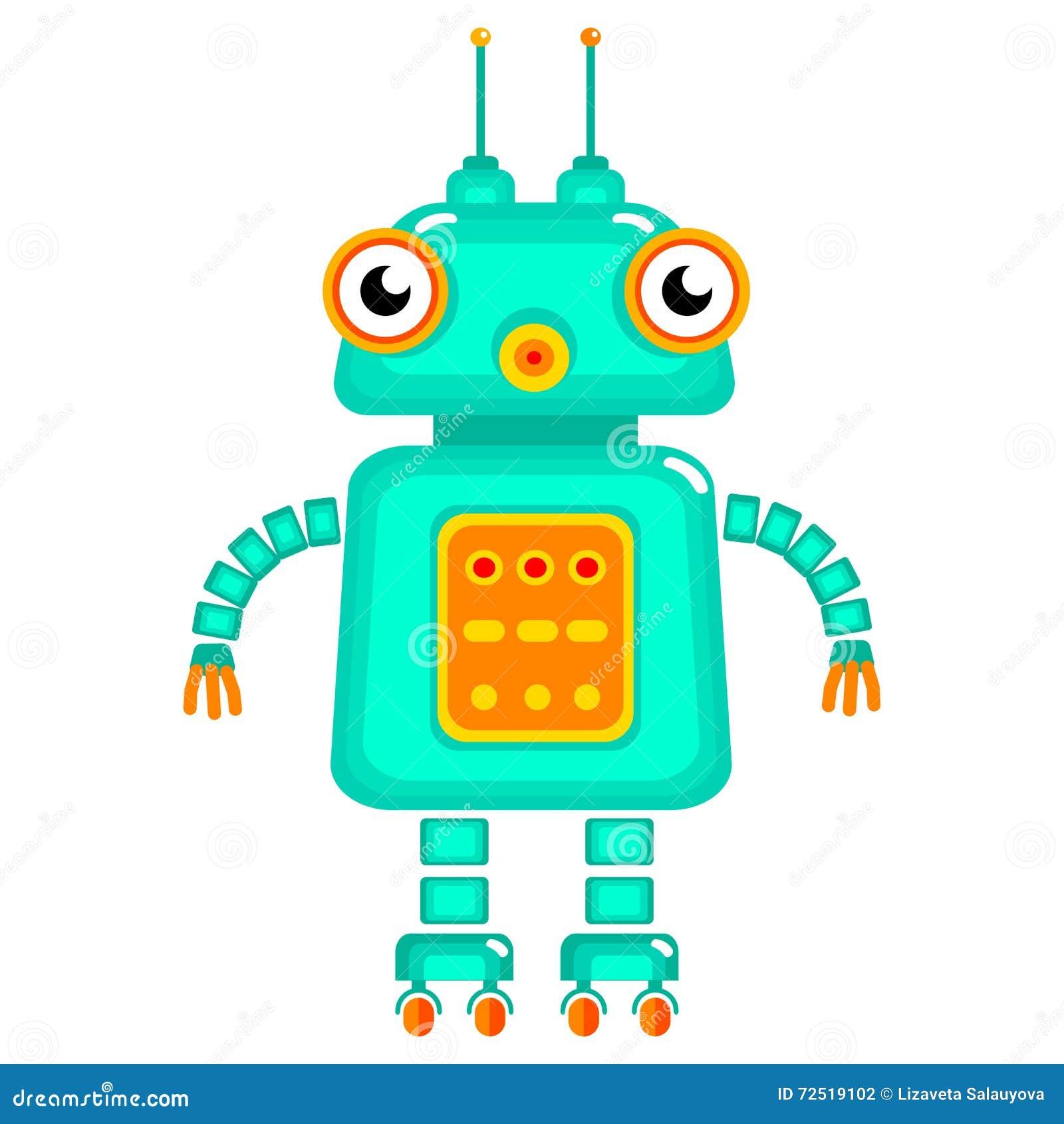 Cartoon Robot Toy : Cartoon cute robot stock vector illustration of cool
