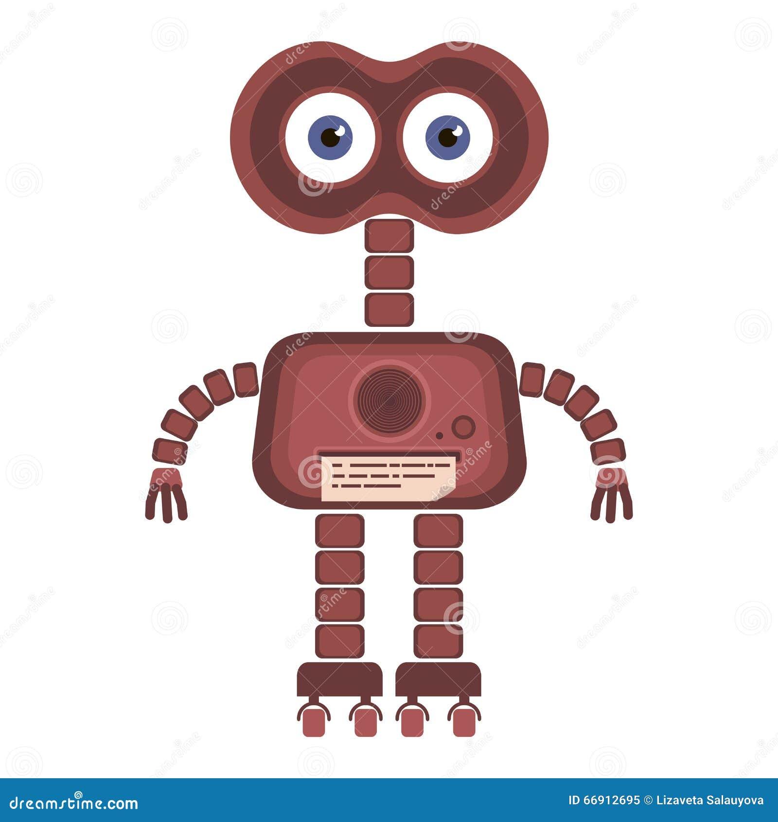 Cartoon Robot Toy : Cartoon cute robot stock vector illustration of element