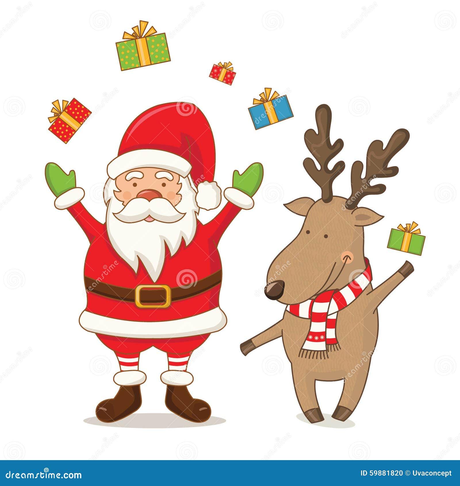 Cute cartoon christmas santa - photo#29
