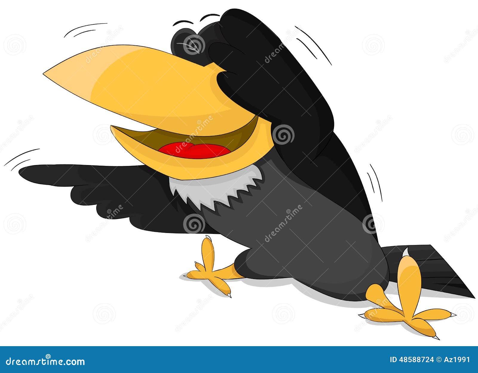 Cartoon Raven Stock Photos - Image: 35421173