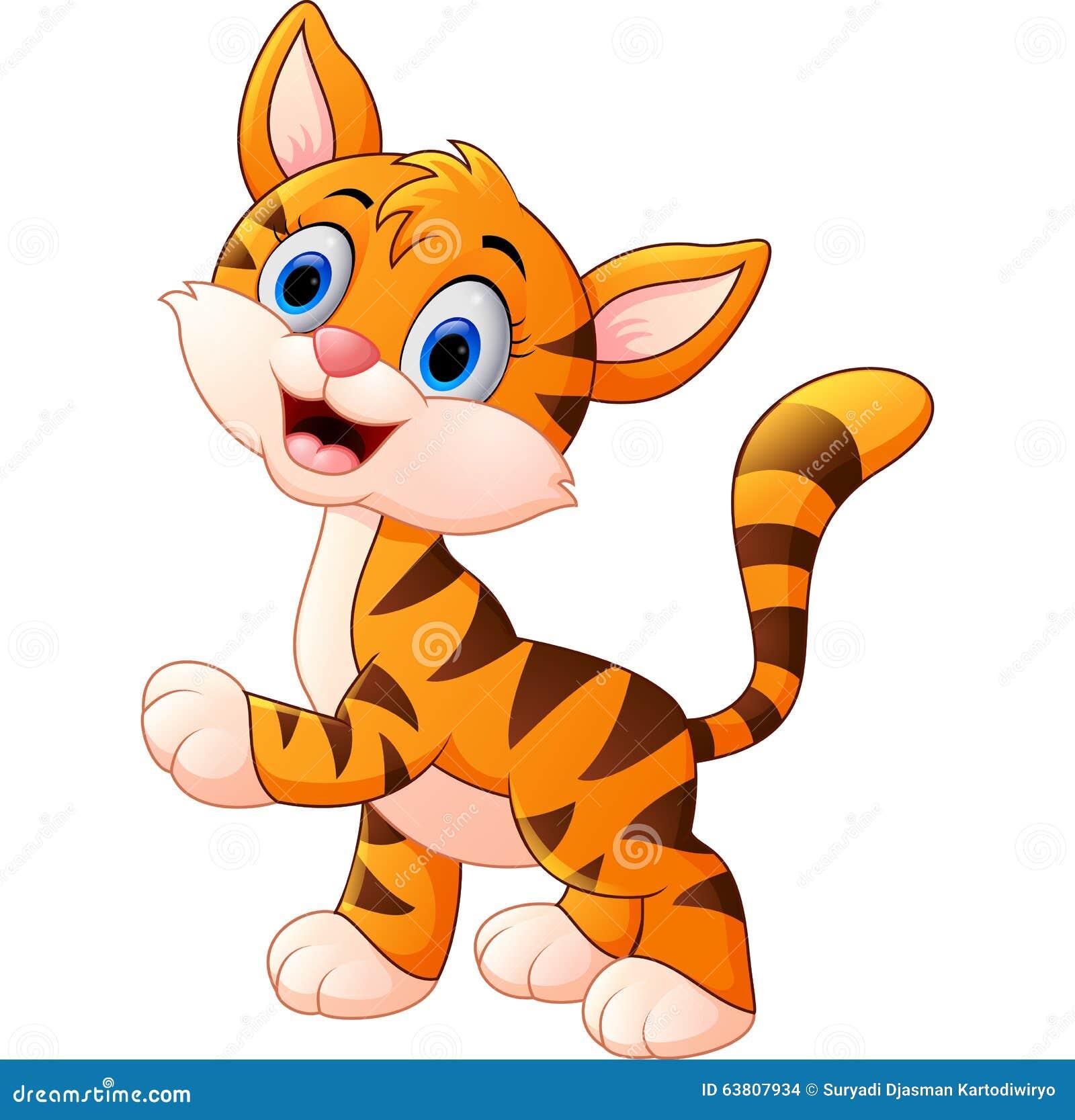Cartoon Cute Tiger Stock Vector Illustration Of Illustration 63807934