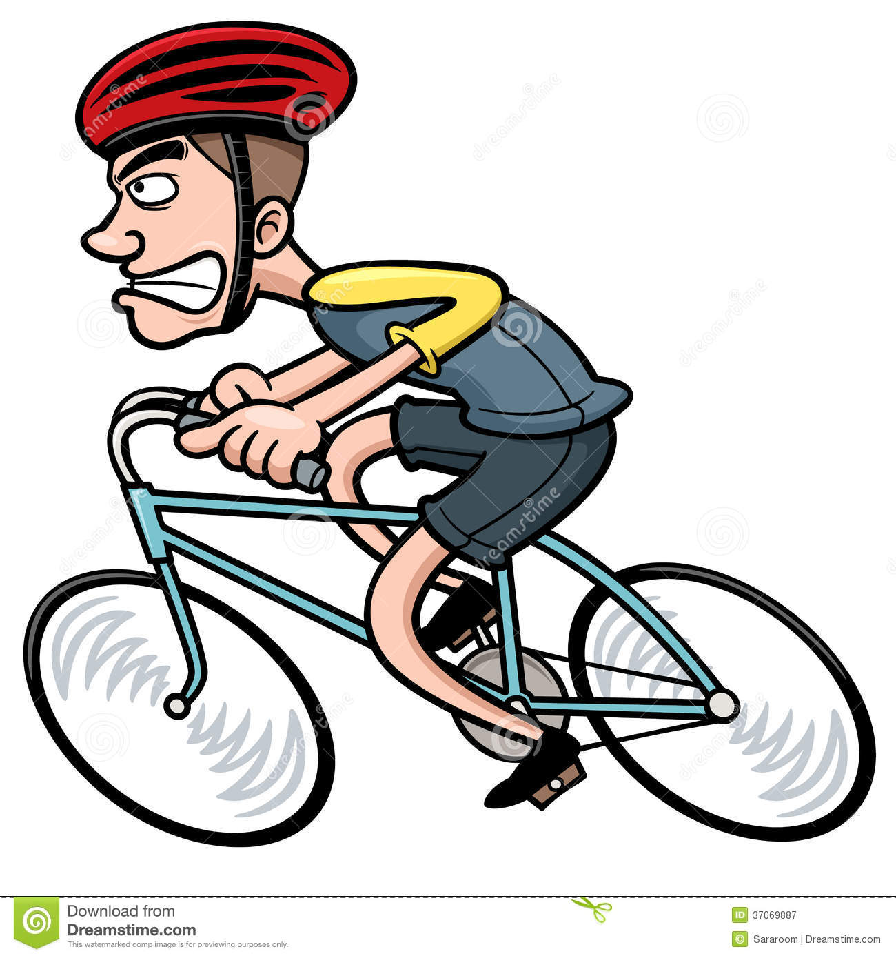 Cartoon cyclist stock vector illustration of journey - Cycliste dessin ...