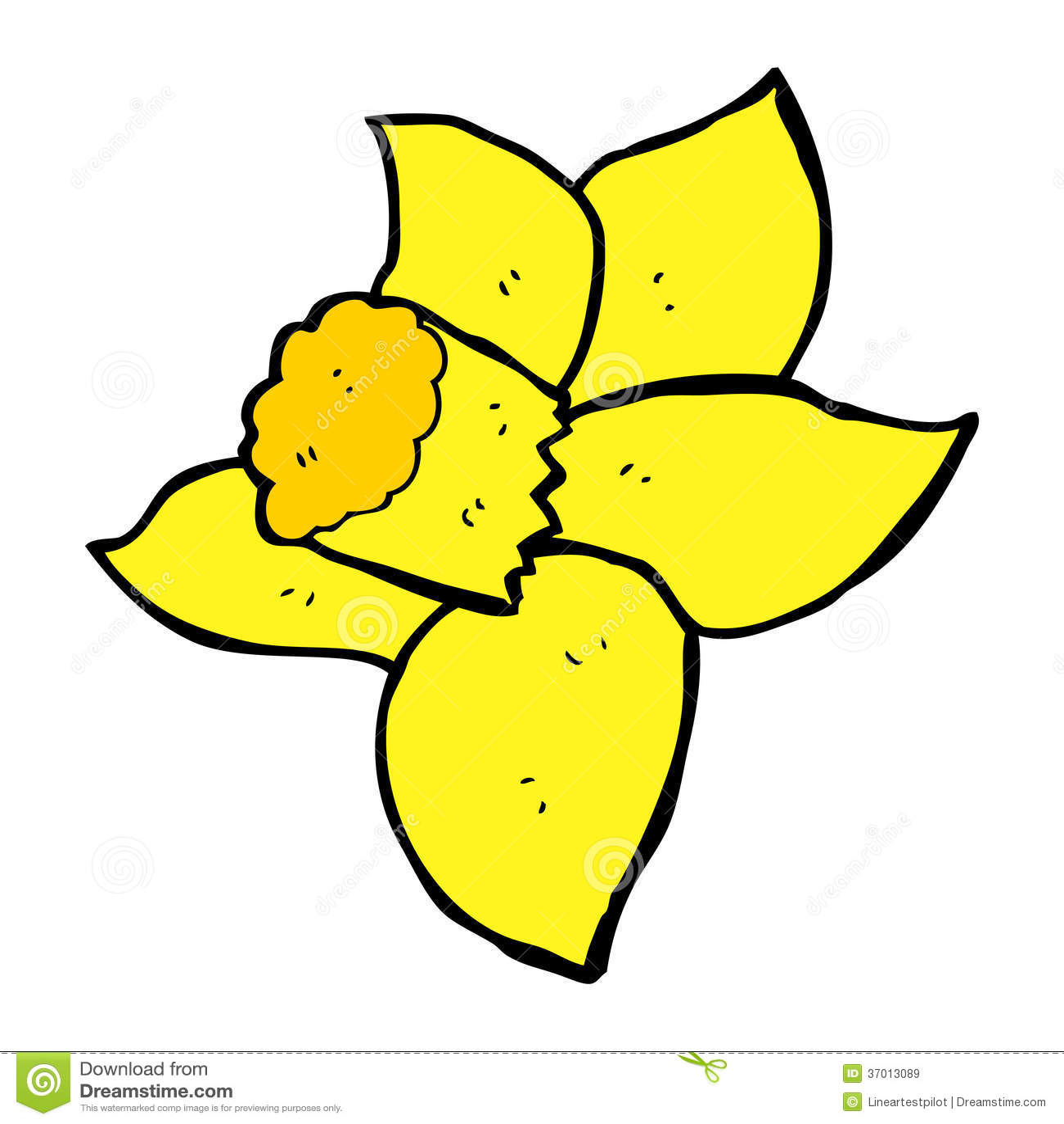 Cartoon daffodil stock vector. Illustration of retro ...