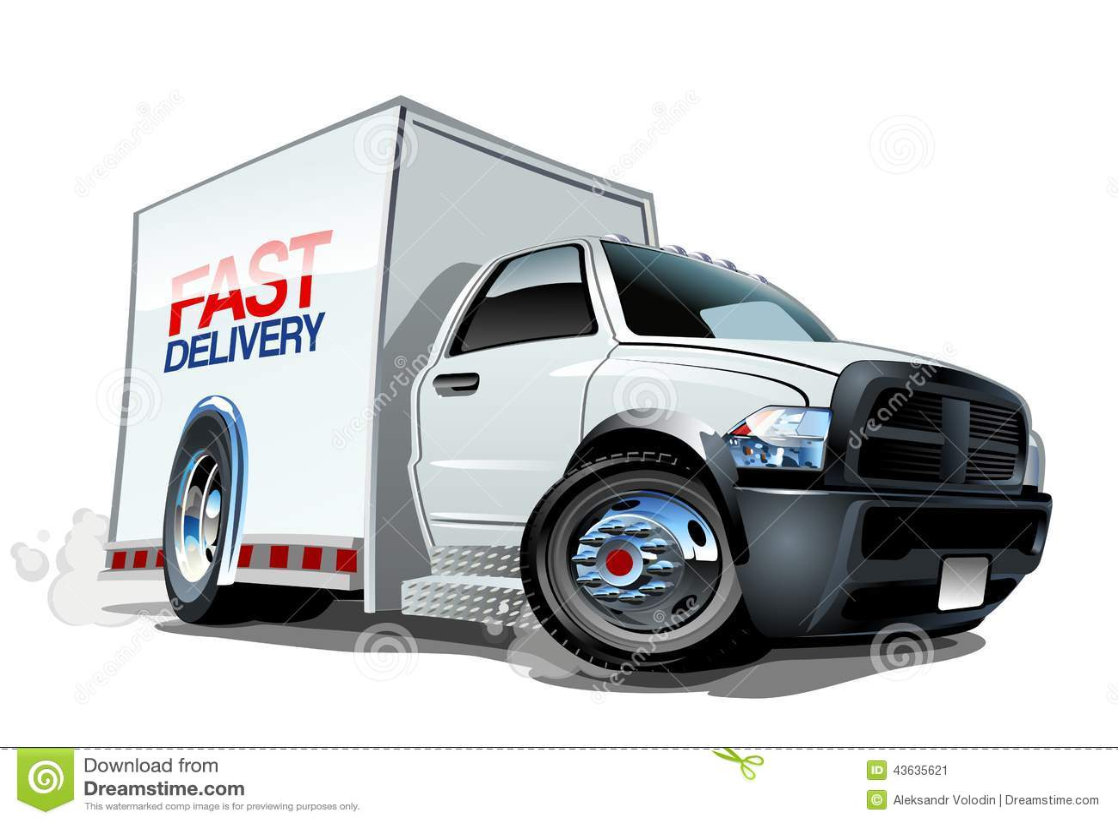 Cartoon Delivery Cargo Truck Stock Vector - Illustration ...
