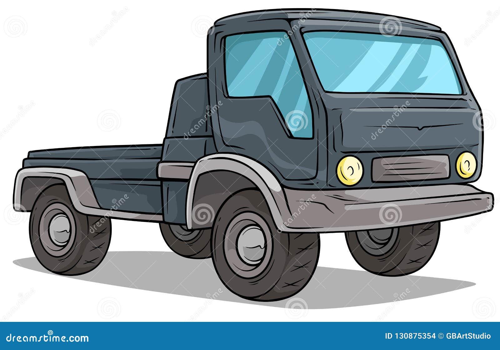 Cartoon Delivery Onboard Cargo Truck Vector Icon Stock ...