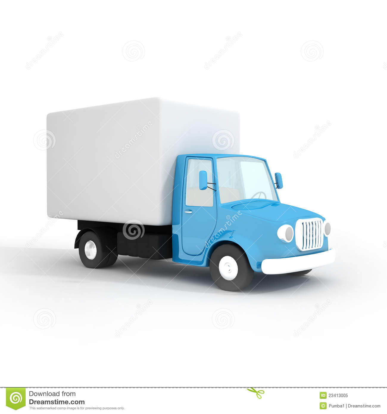 Cartoon Delivery Truck Royalty Free Stock Photo