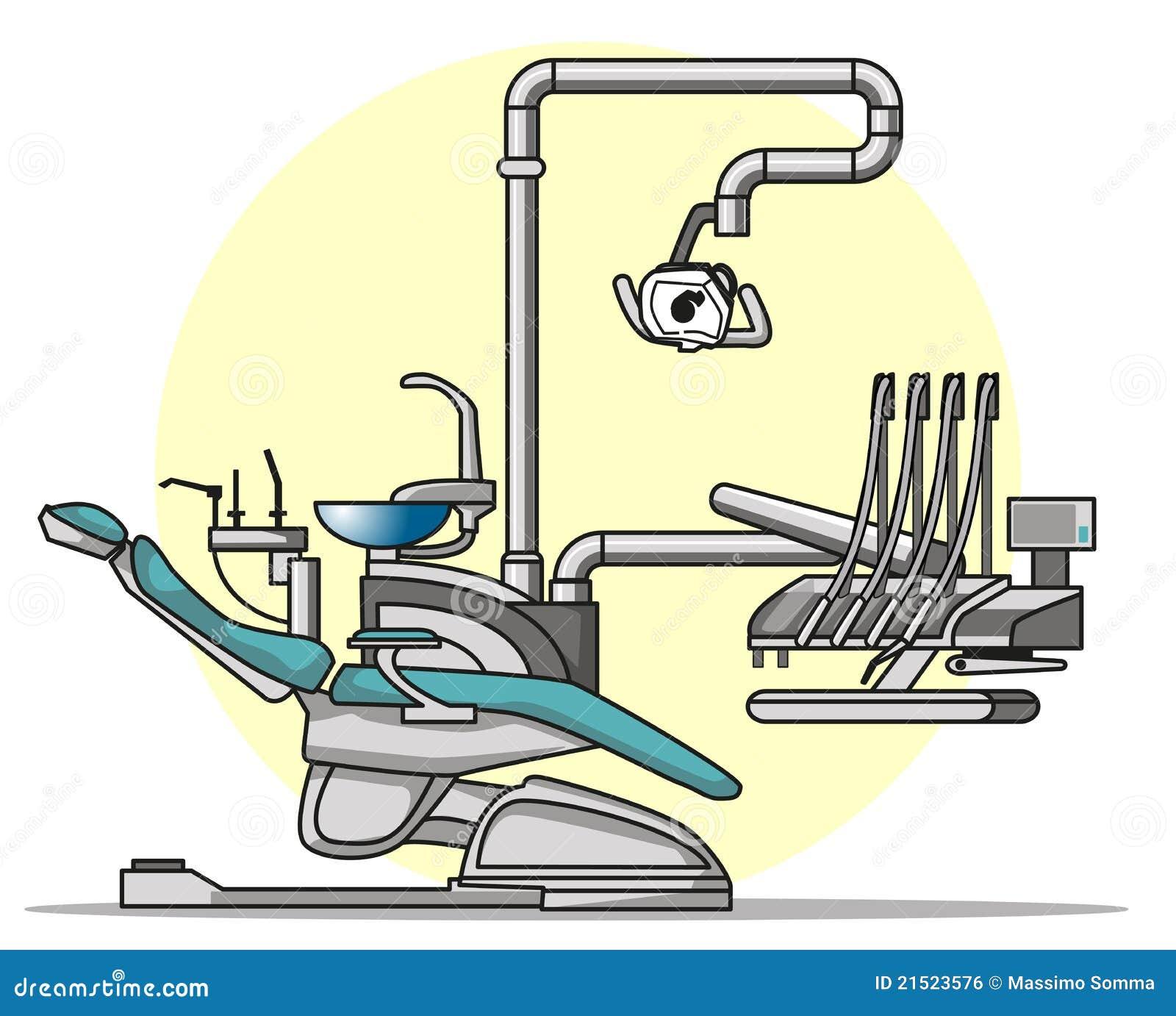 Cartoon Dentist Chair Royalty Free Stock Image - Image: 21523576