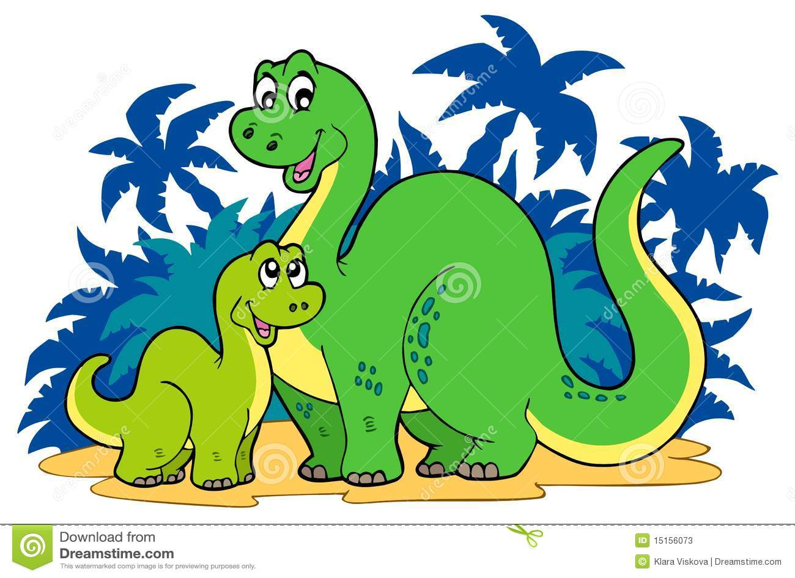Cartoon Dinosaur Family Stock Photos - Image: 15156073