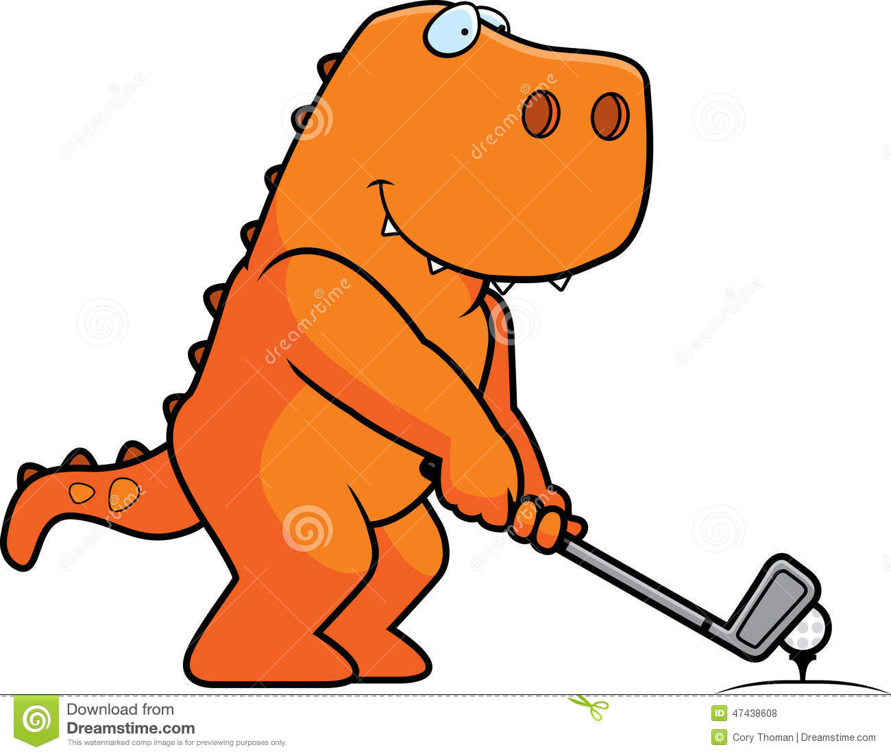 cartoon dinosaur golfing stock vector illustration of golf clip art clear background free golf clip art free images