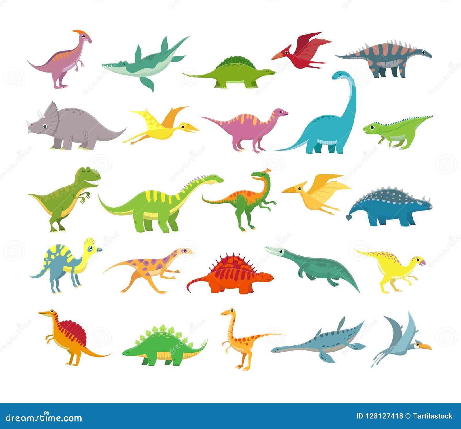 Cartoon Dinosaurs Baby Dino Prehistoric Animals Cute Dinosaur