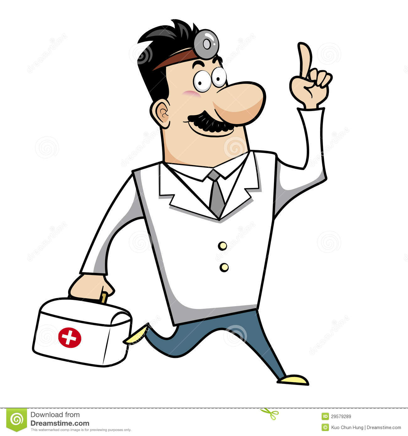 Download Cartoon Doctor With First Aid Kit Stock Vector