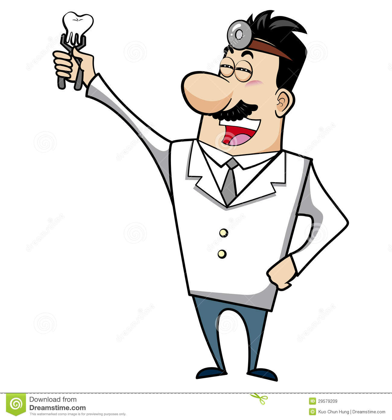 Cartoon Doctor With Tooth Royalty Free Stock Images