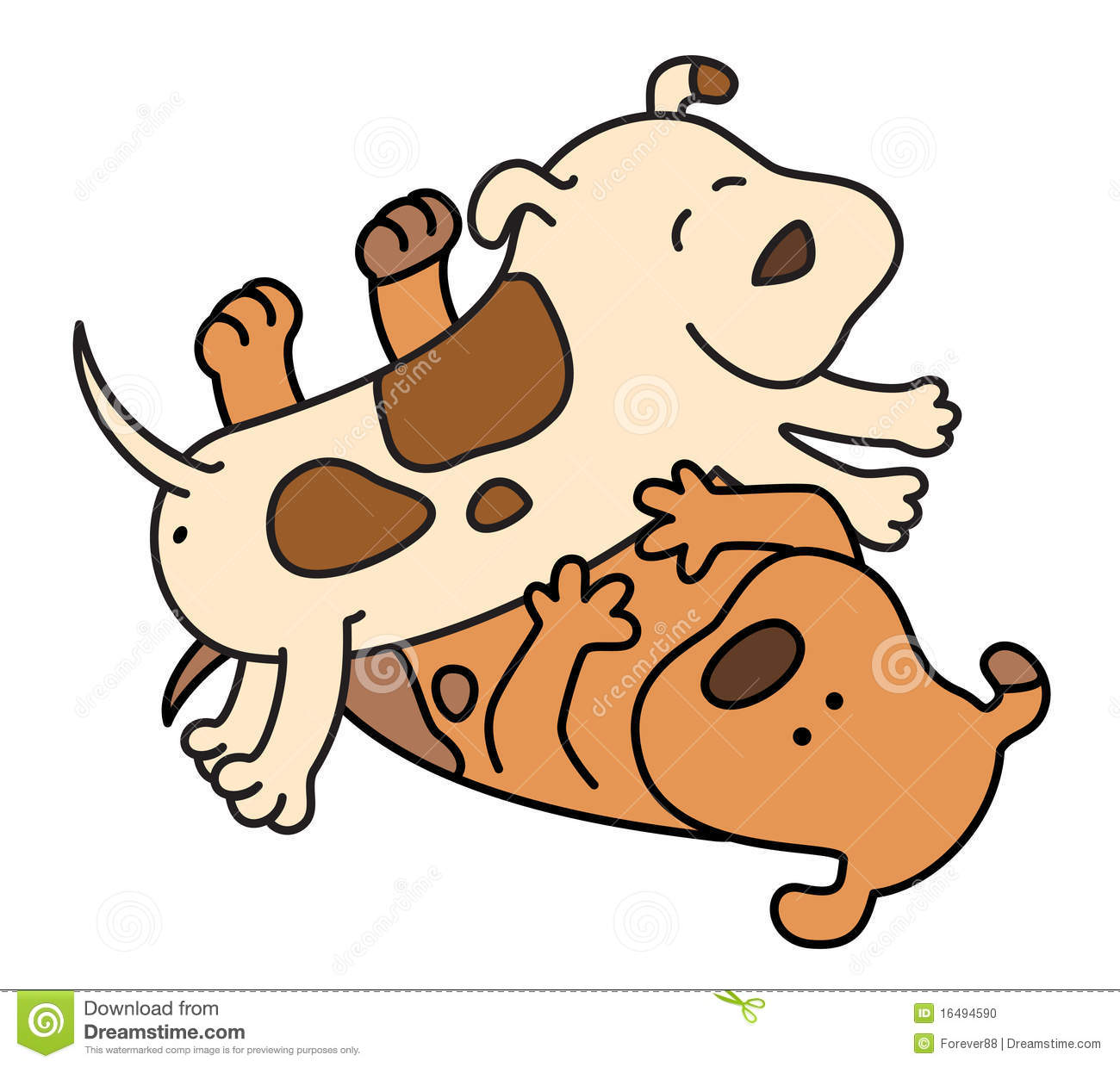Cartoon Pictures Of Dogs Fighting