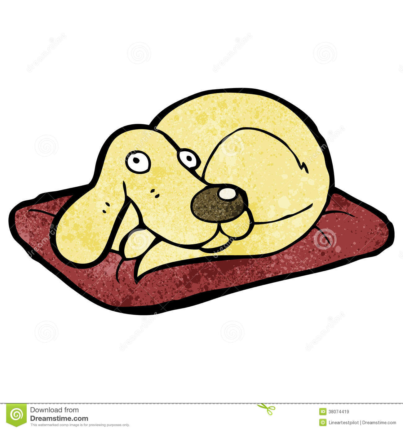 clipart dog in bed - photo #16