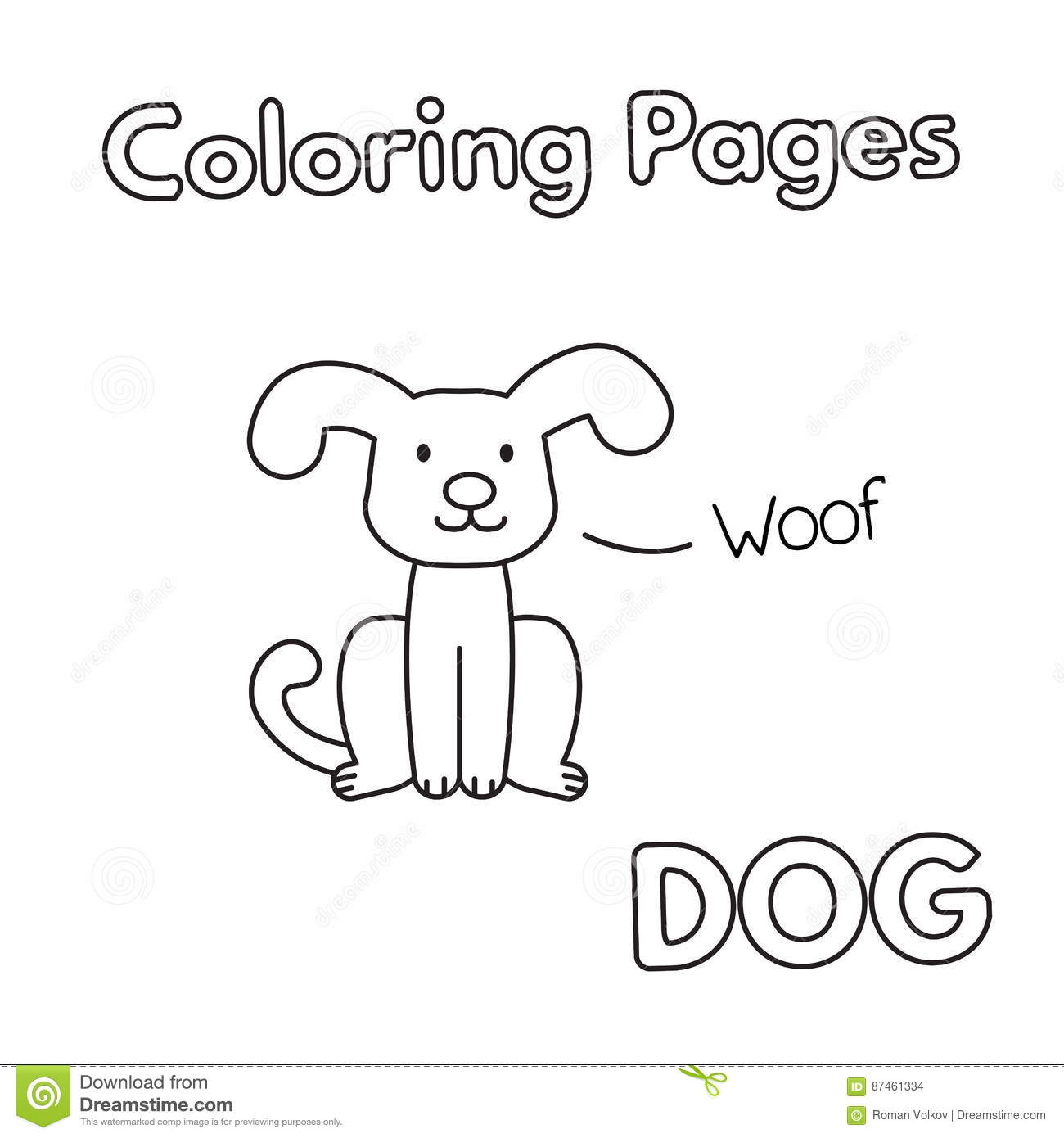 Free Printable Dog Coloring Pages For Kids | 1390x1300