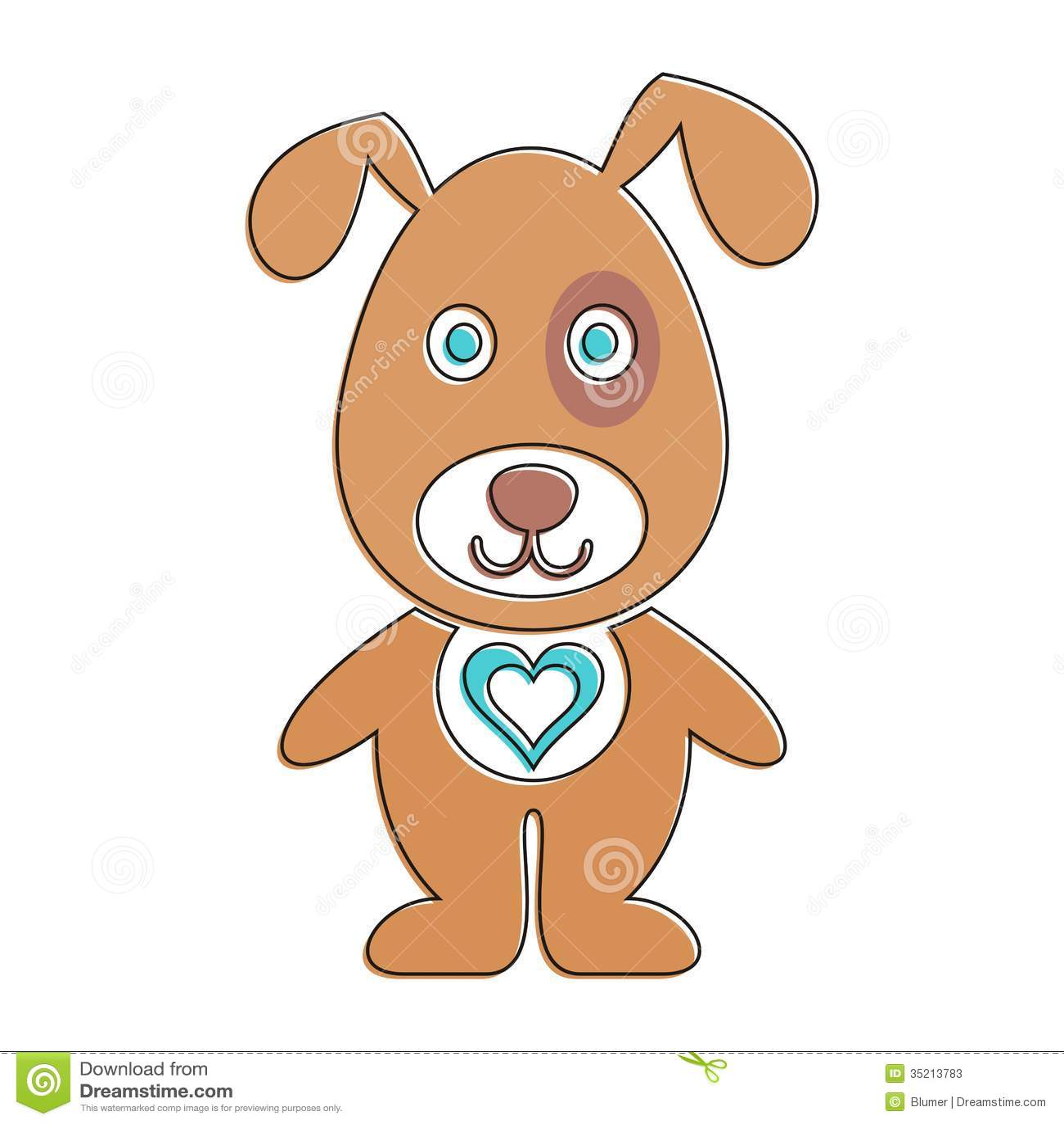 Cartoon dog stock vector. Illustration of graphic ...