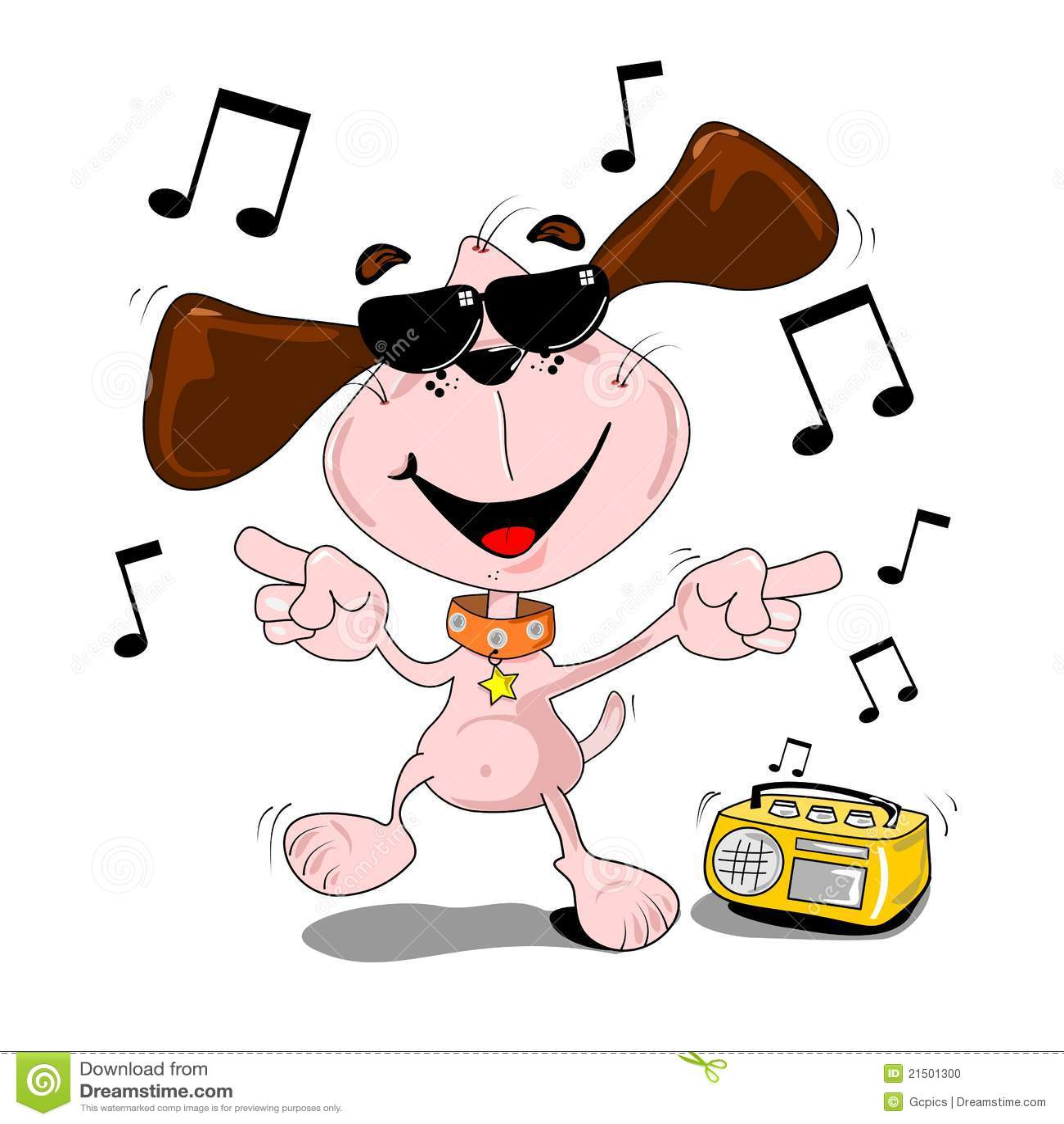 Cartoon Dog Dancing Stock Photo - Image: 21501300