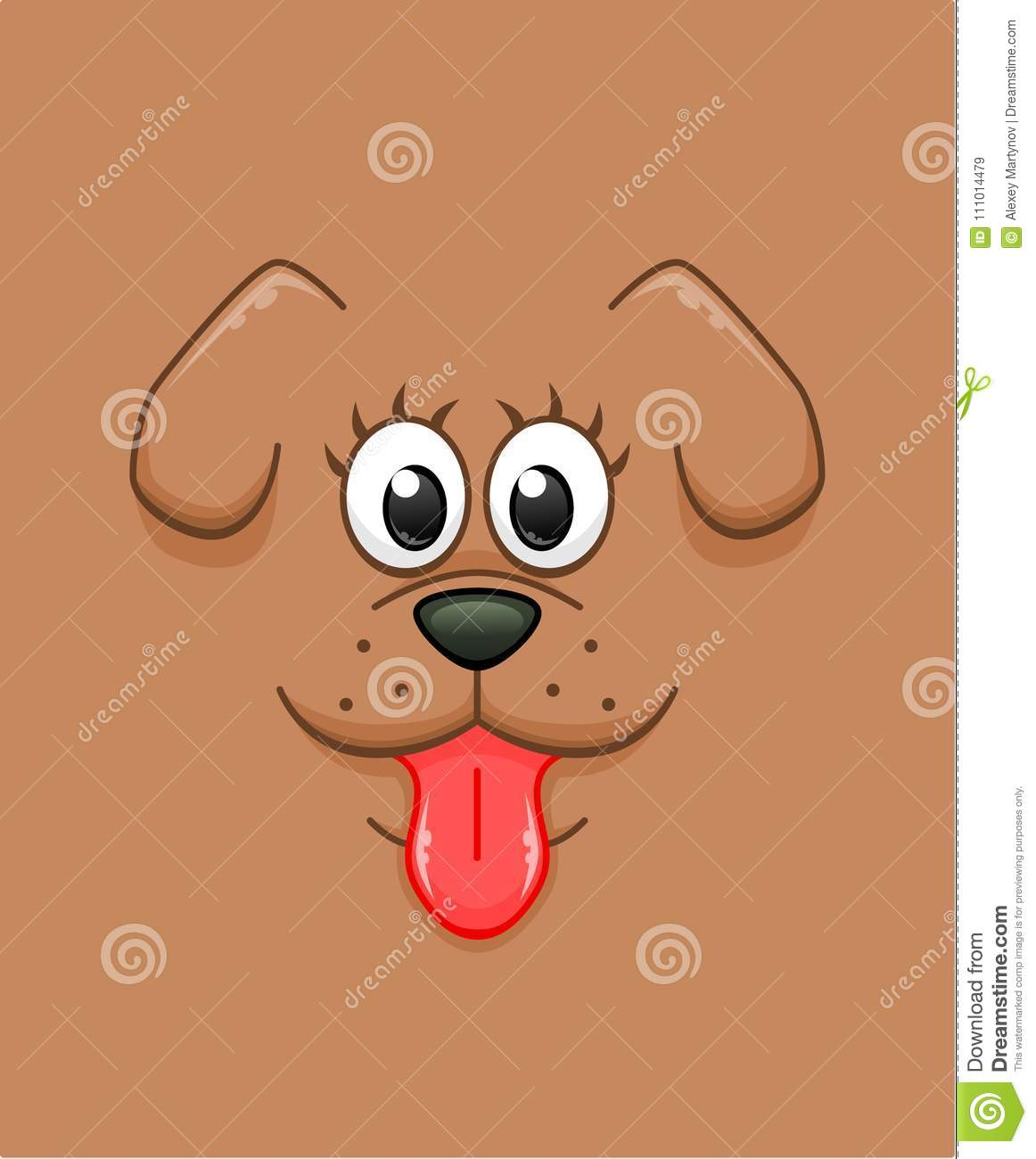 Cartoon Dog Face Background Stock Vector Illustration Of Domestic Funny 111014479
