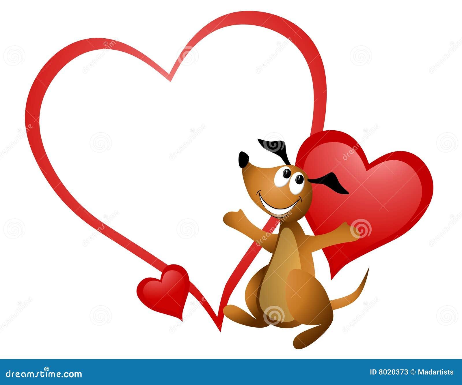 Cartoon dog heart valentine stock illustration - Animale san valentino clipart ...