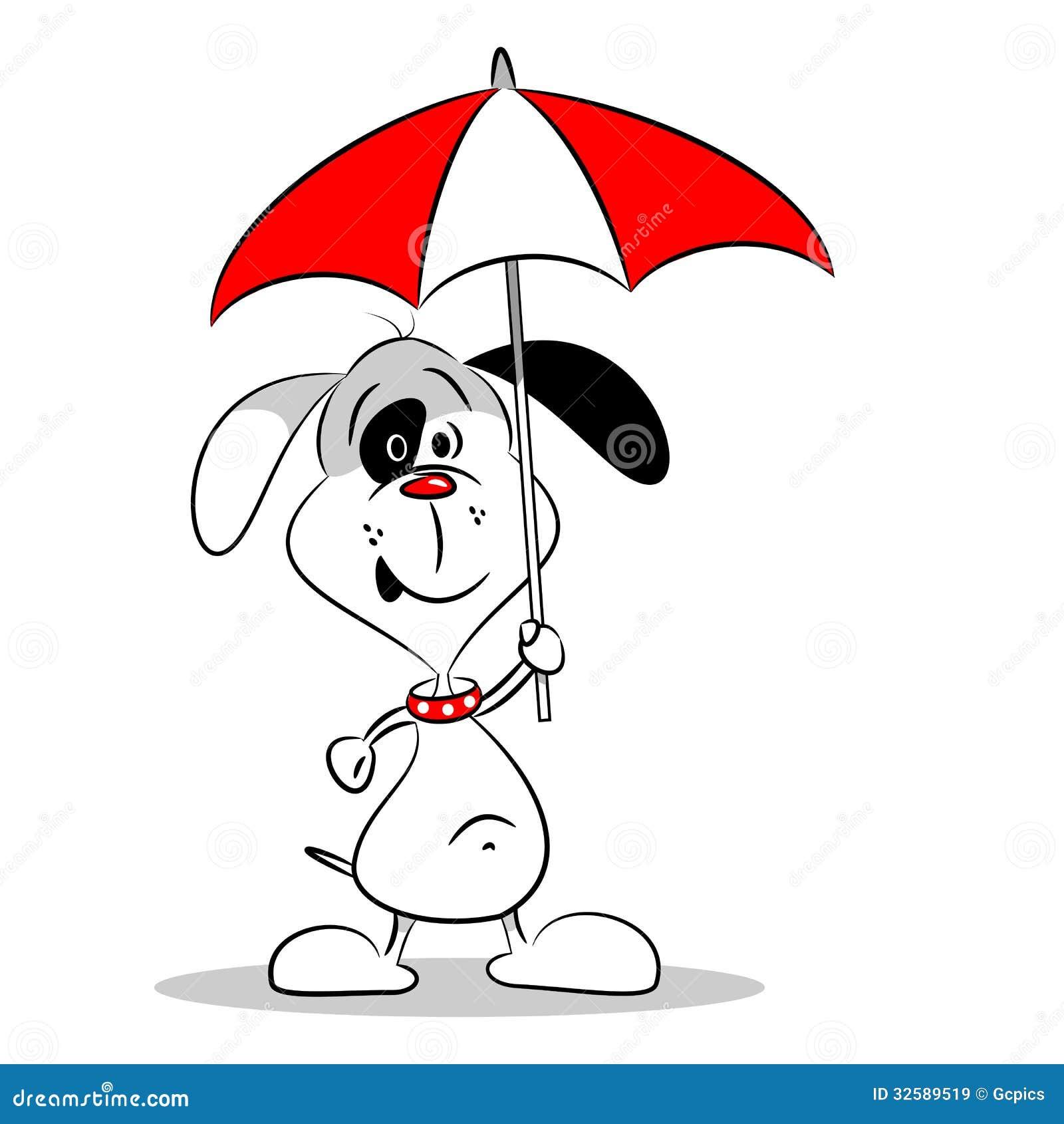 A Cartoon Dog Holding An Umbrella Royalty Free Stock ... Relaxing Dog Music