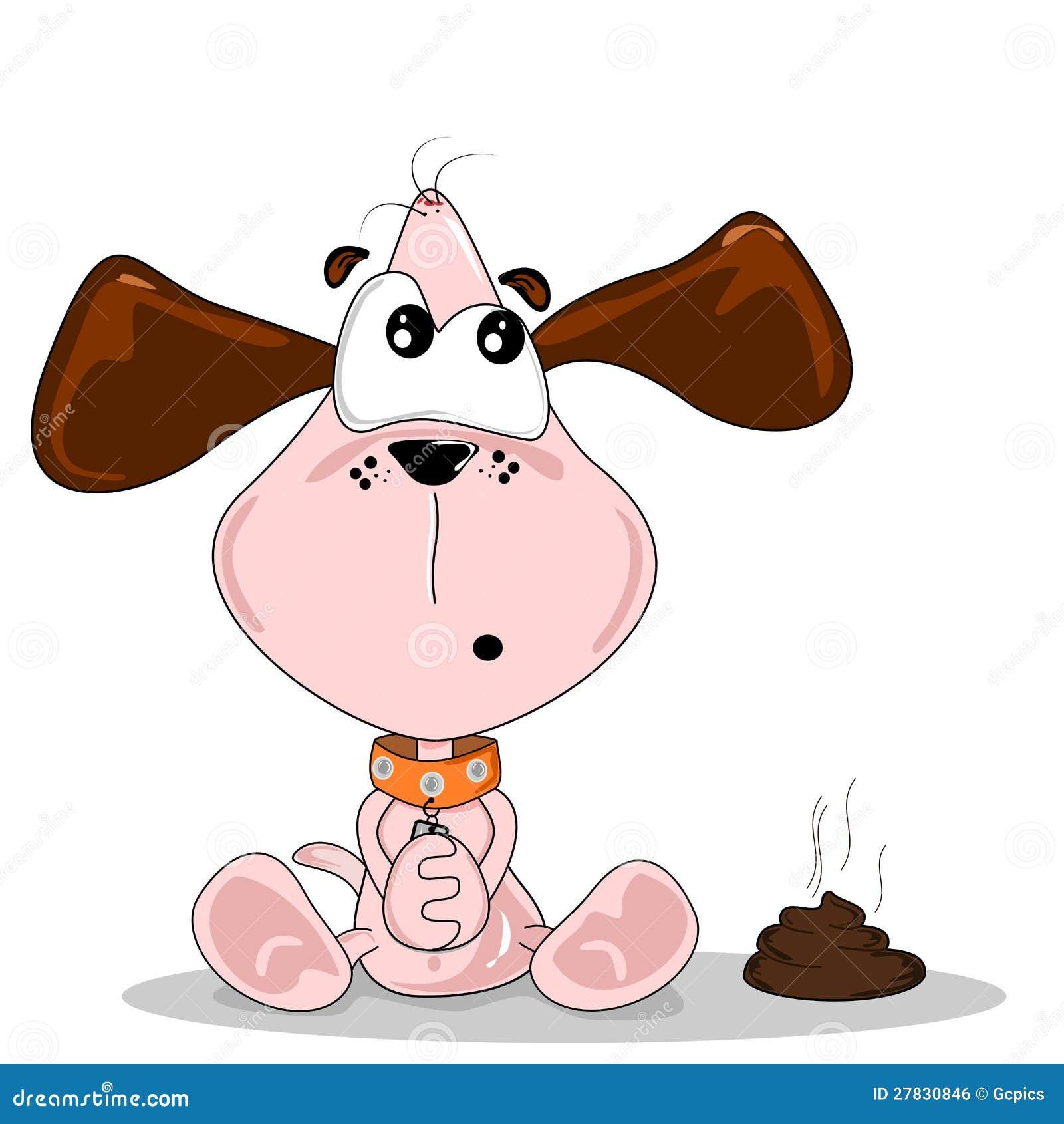 Cartoon Dog And Poo Royalty Free Stock Image Image 27830846