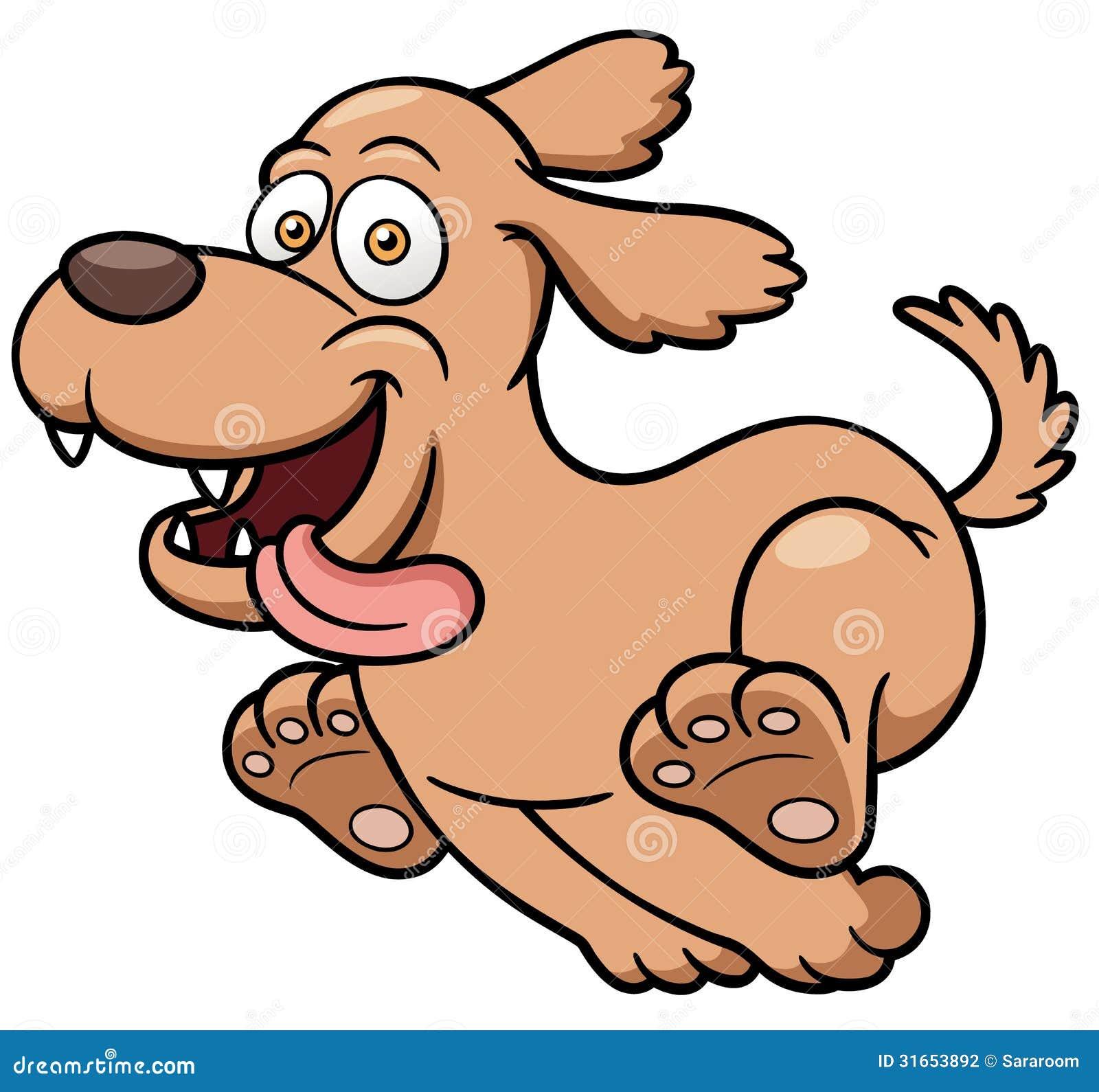 cartoon dog running stock vector illustration of furry 31653892 rh dreamstime com clip art of dogs running in 18th century clipart dogs running silhouette