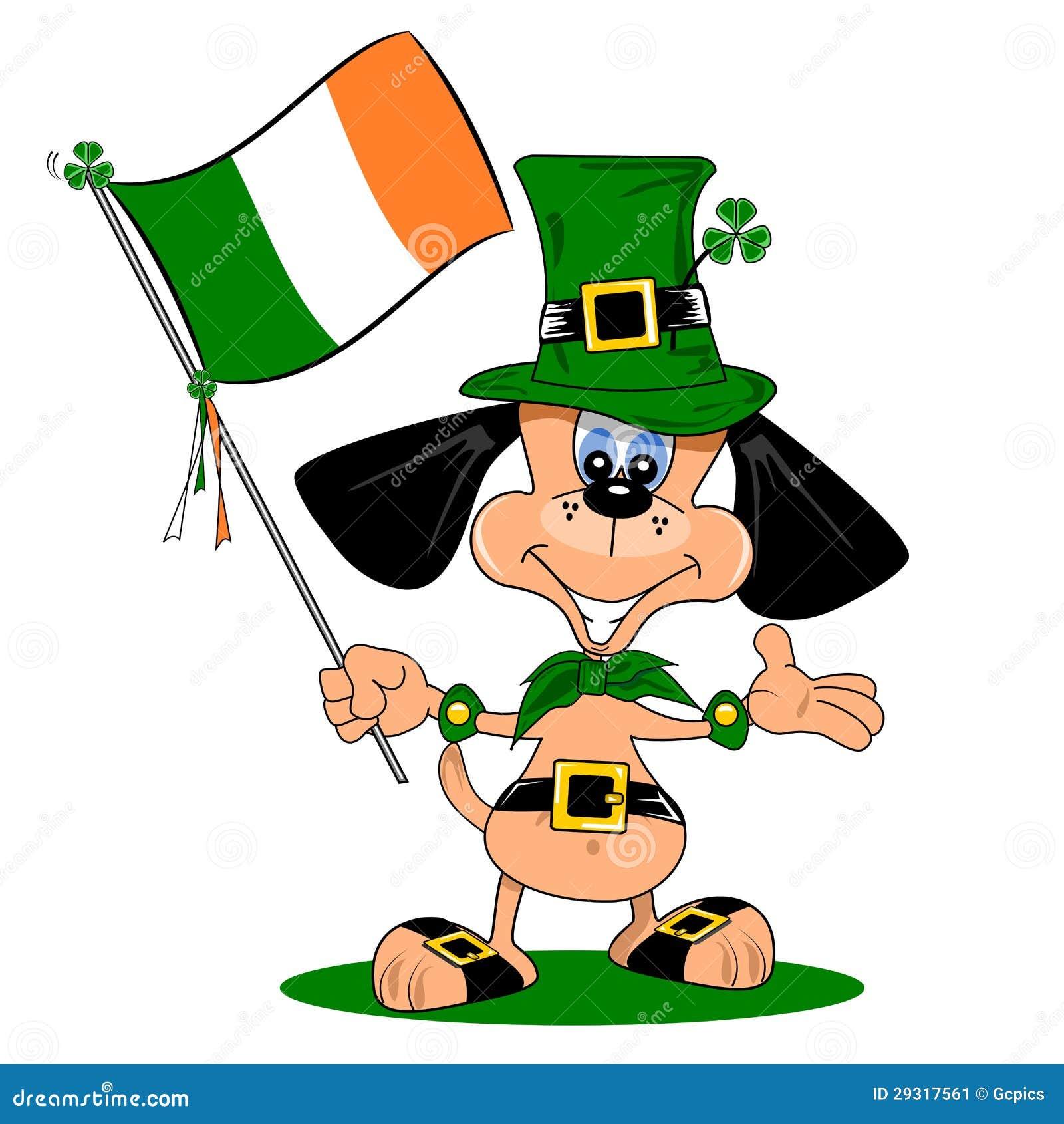 A Cartoon Dog On St Patricks Day Stock Image - Image: 29317561