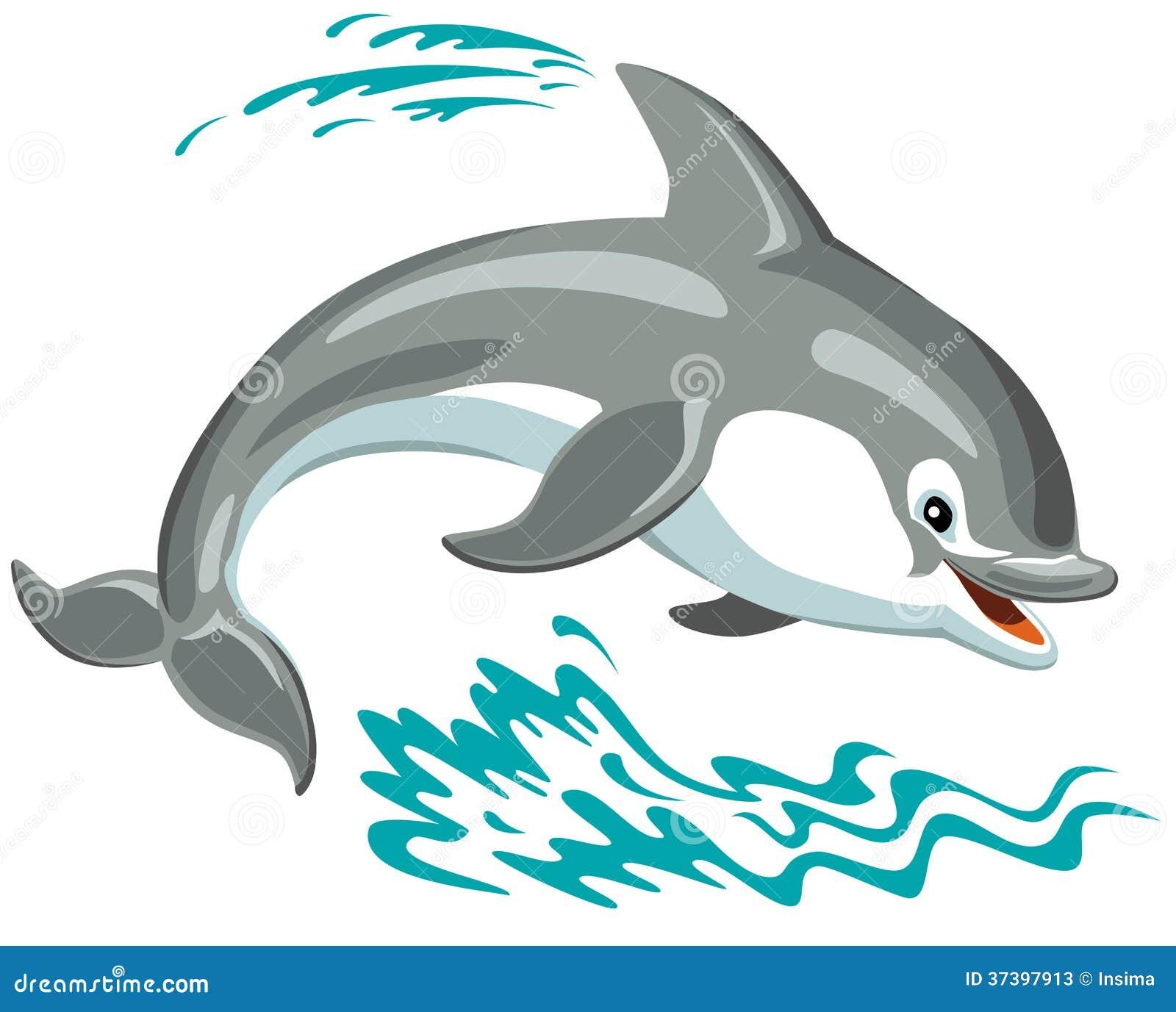 Cartoon Dolphin Stock Photos Image 37397913
