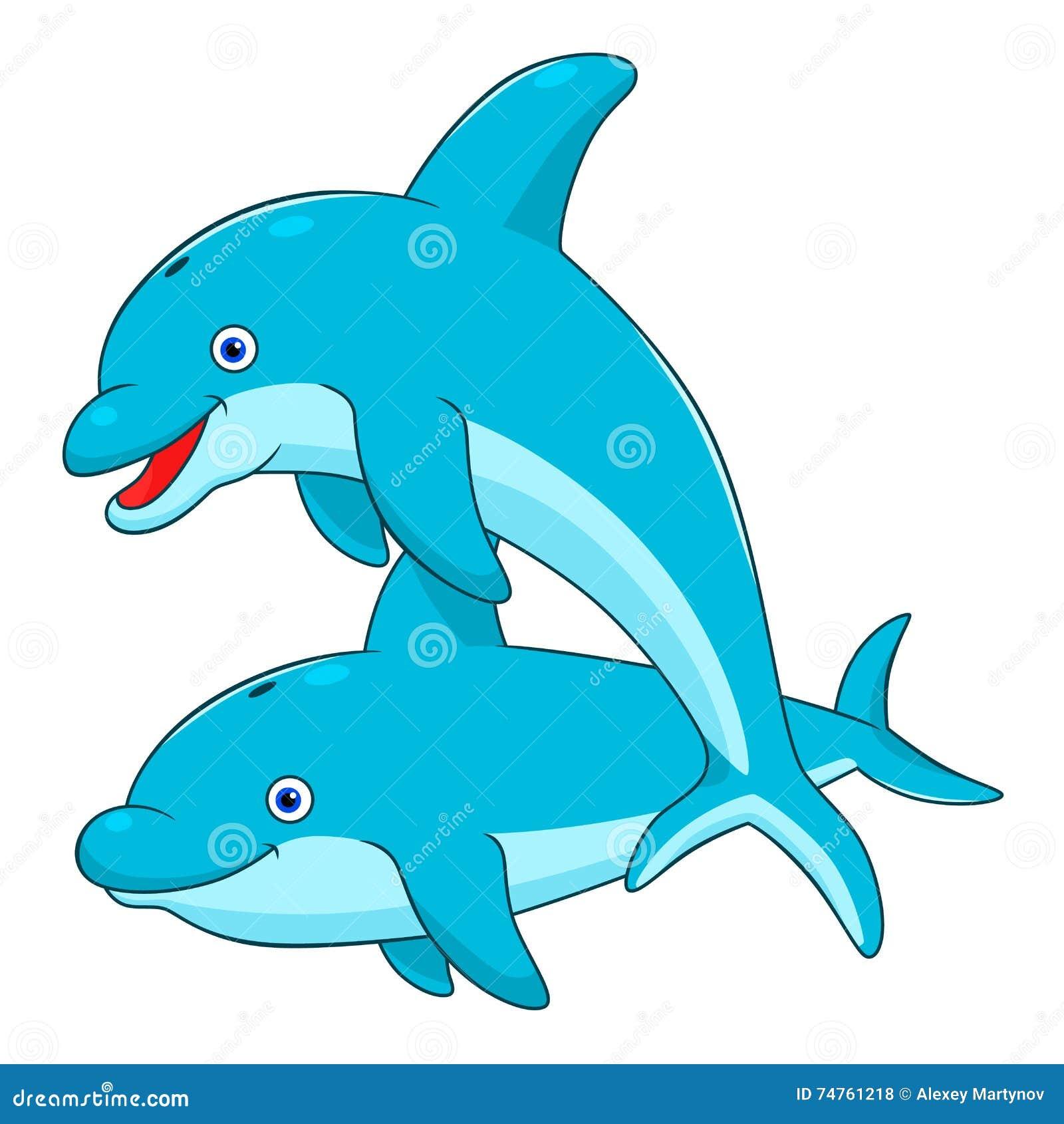Cartoon dolphins stock vector. Illustration of life ...