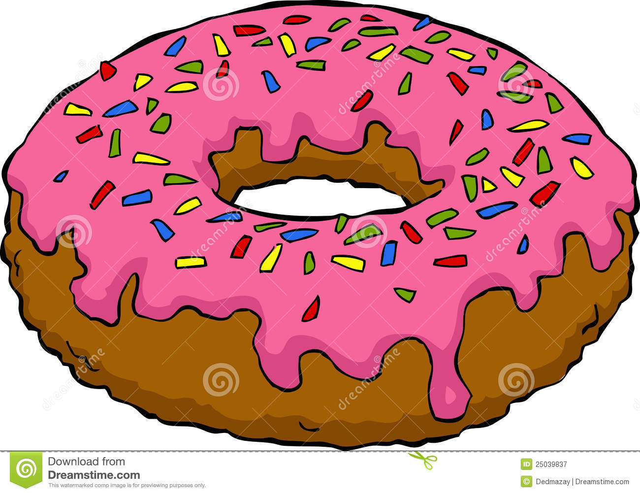 Cartoon Donut Royalty Free Stock Photography - Image: 25039837