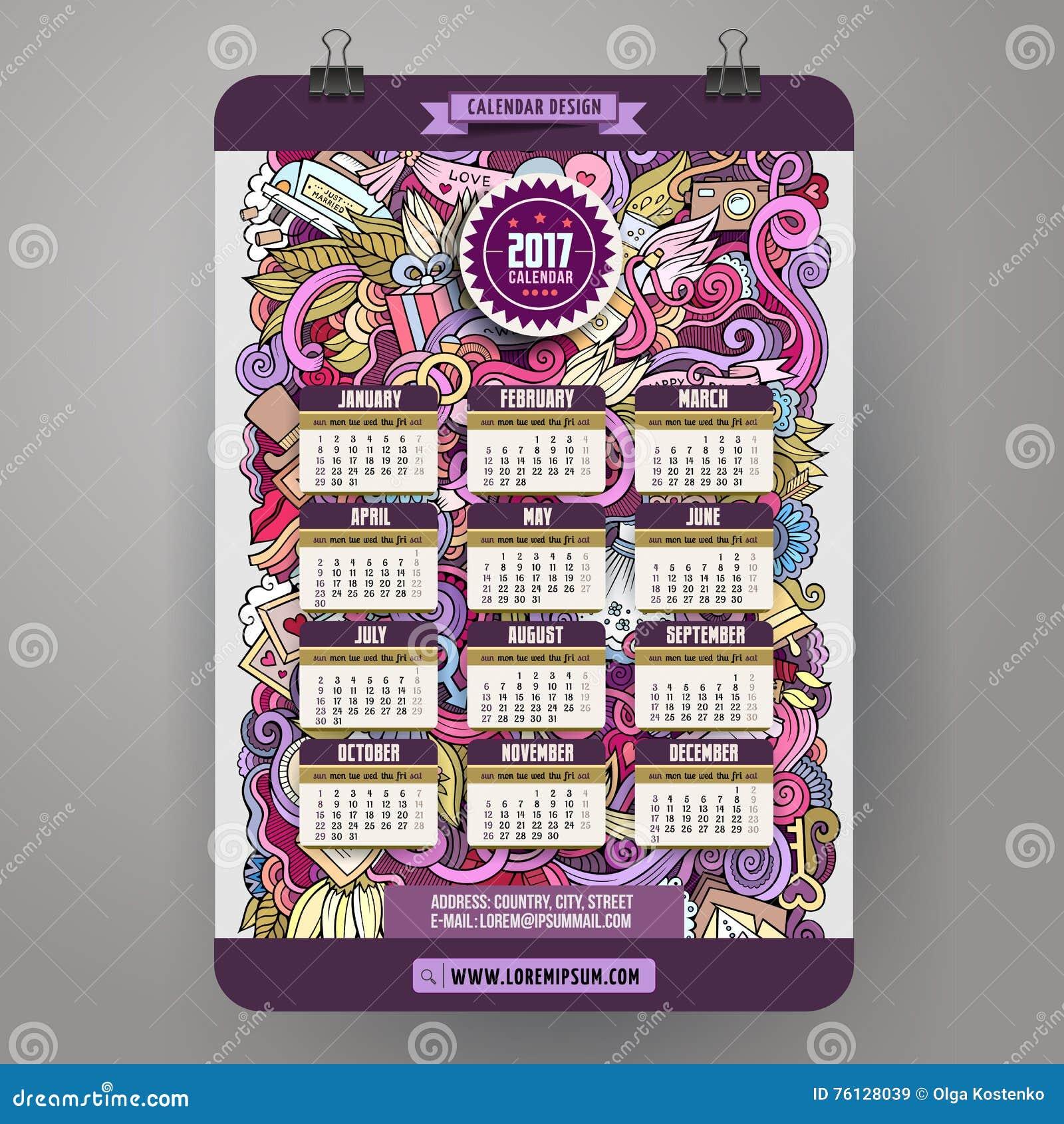 wedding calendar template