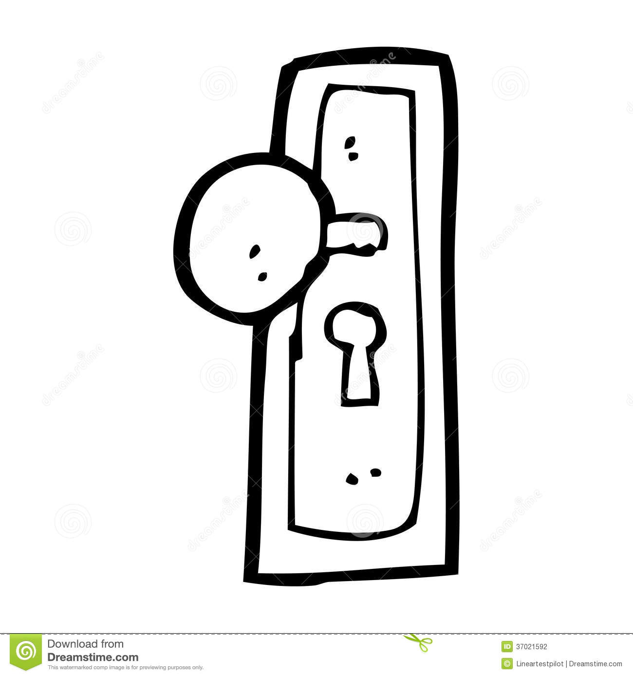 cartoon door knob stock illustration  illustration of